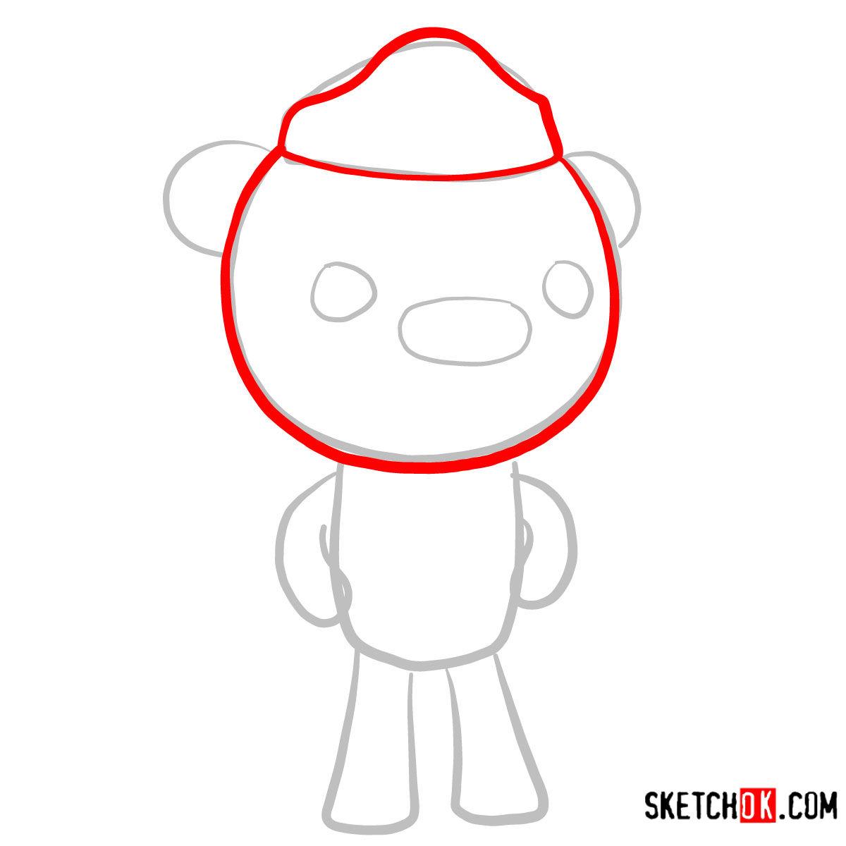 How to draw Barnacles Bear   Octonauts - step 02