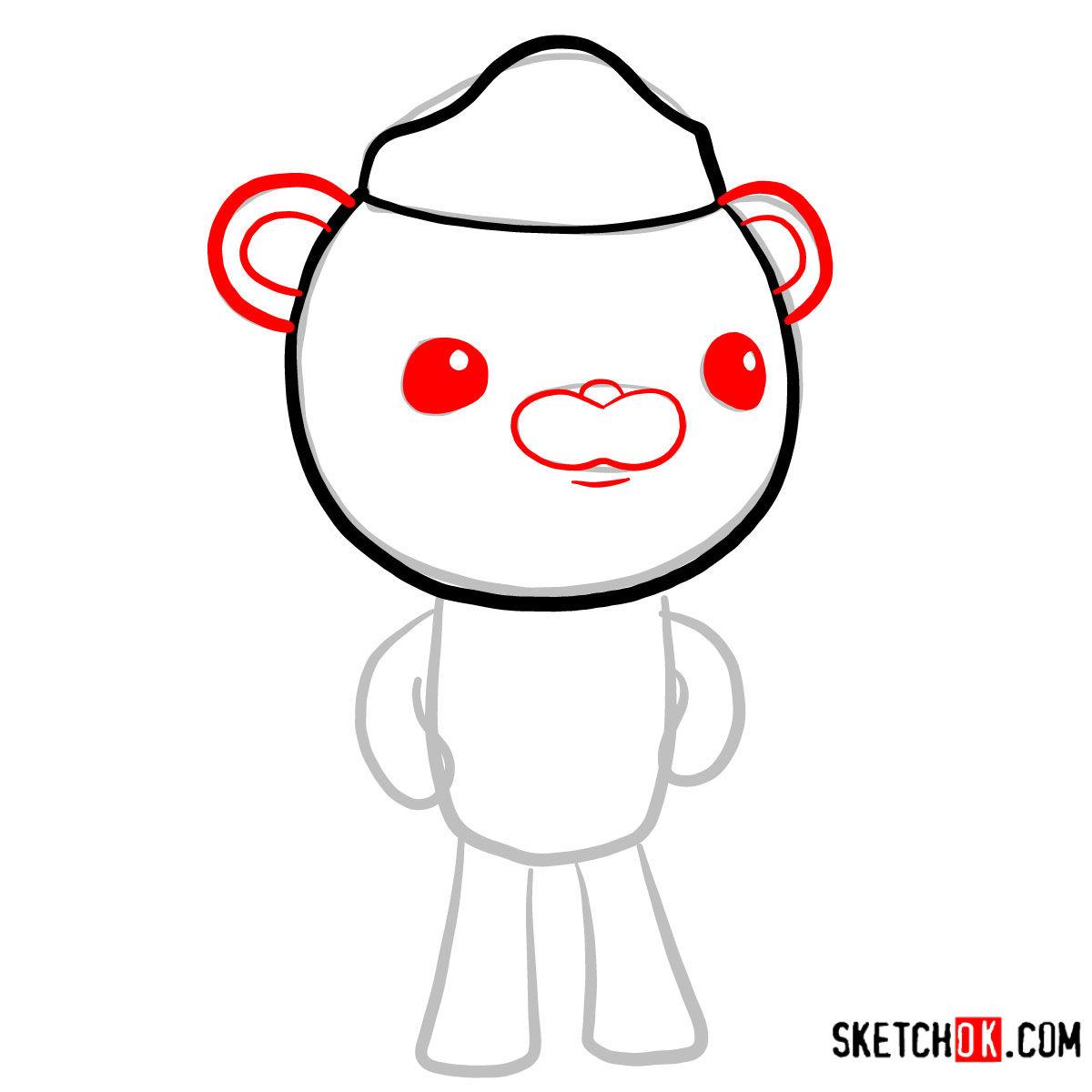 How to draw Barnacles Bear   Octonauts - step 03