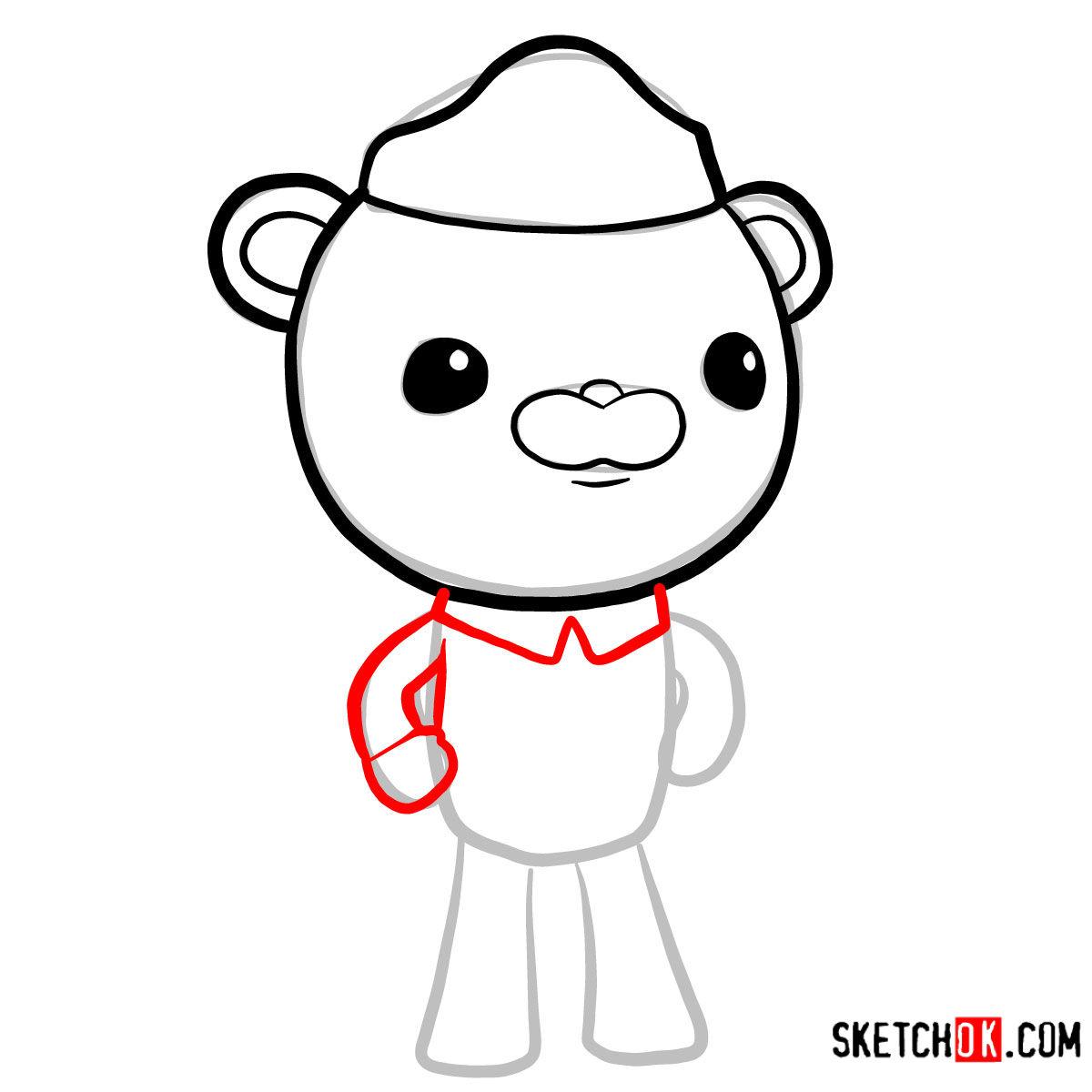 How to draw Barnacles Bear   Octonauts - step 04