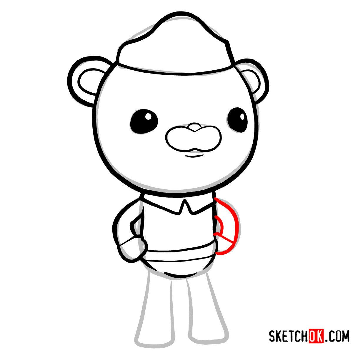 How to draw Barnacles Bear   Octonauts -  step 06