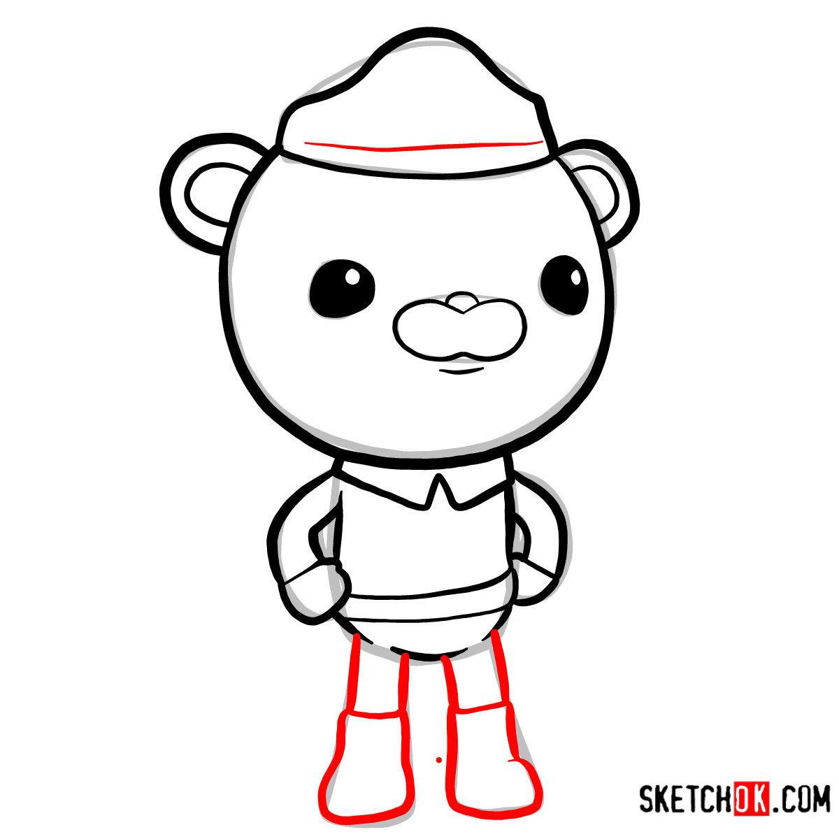 How to draw Barnacles Bear   Octonauts - step 07