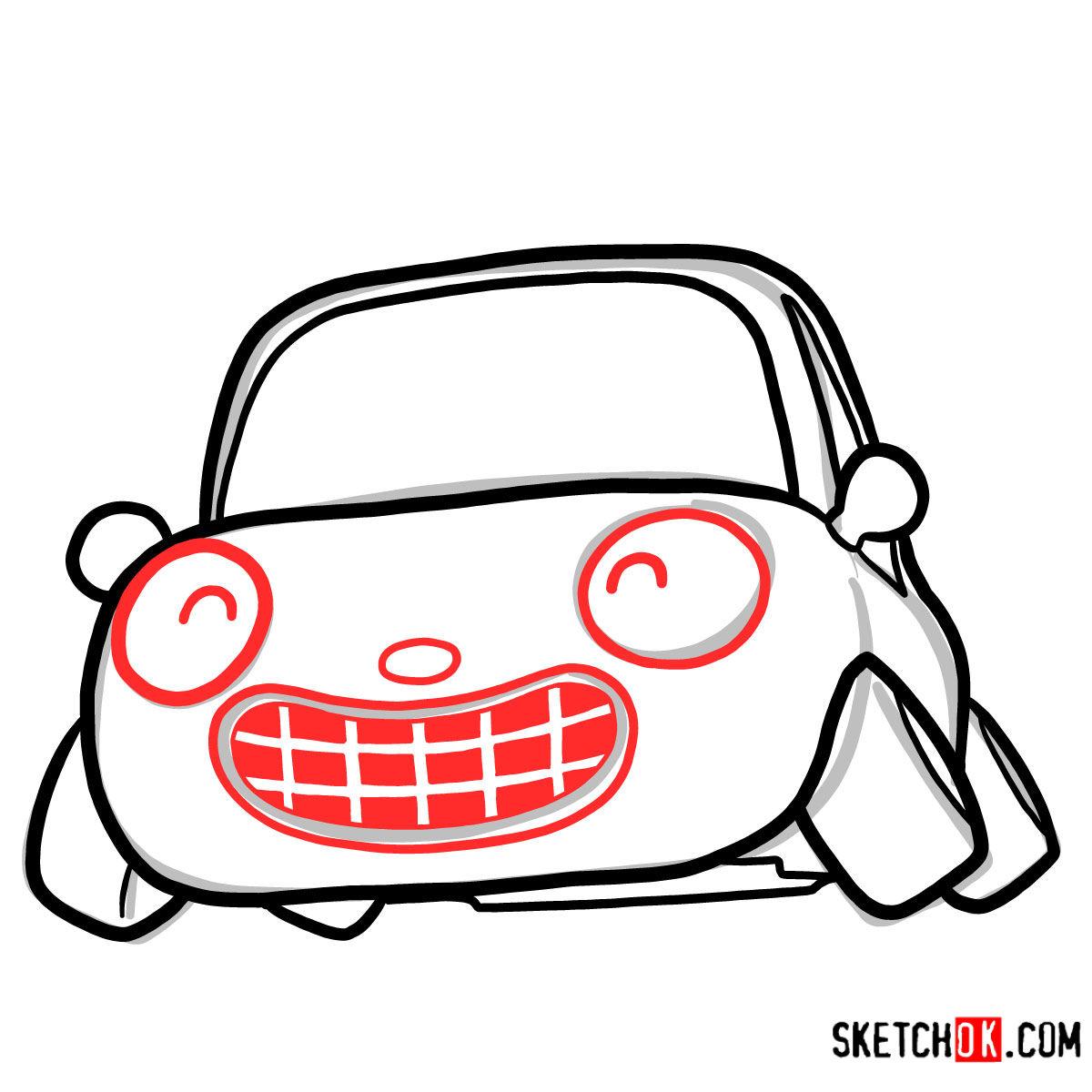 How to draw Tu-Tu the car | Pororo - step 05