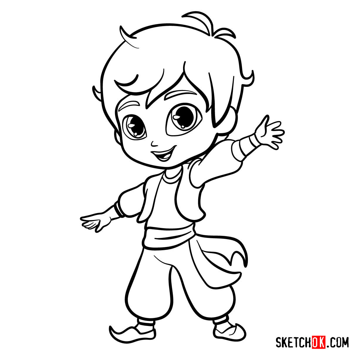 How to draw Zac from Shimmer and Shine