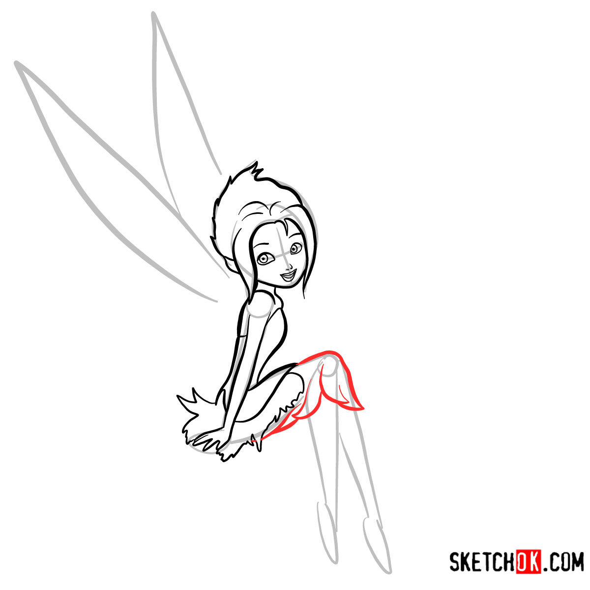 How to draw Periwinkle | Disney Fairies - step 08