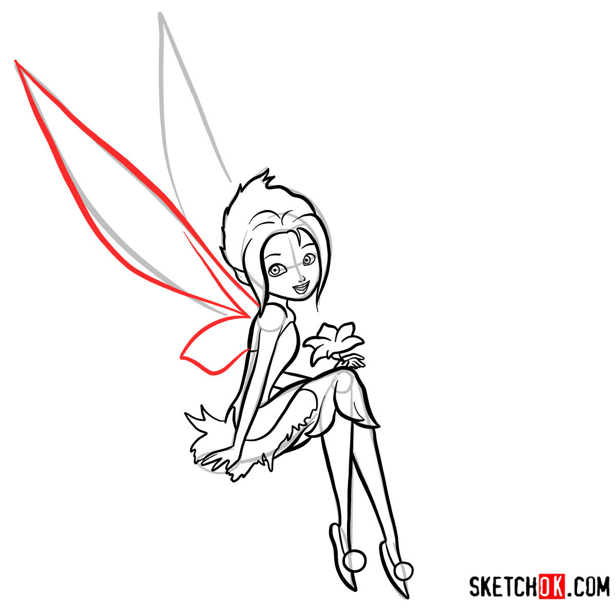 How to draw Periwinkle | Disney Fairies - step 12