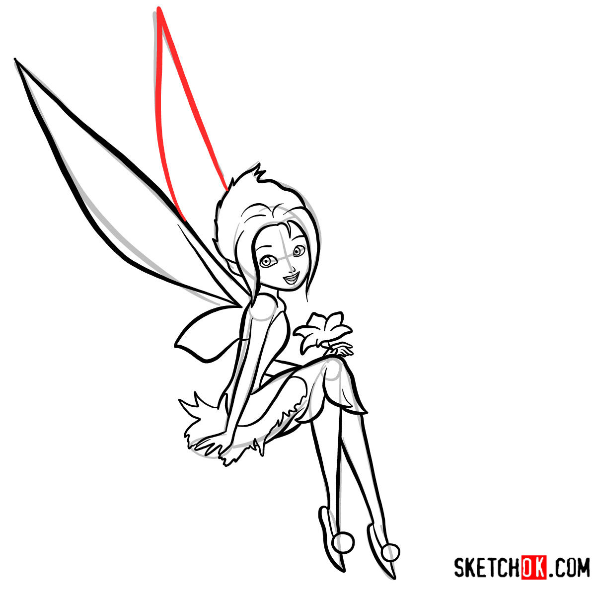 How to draw Periwinkle | Disney Fairies - step 13