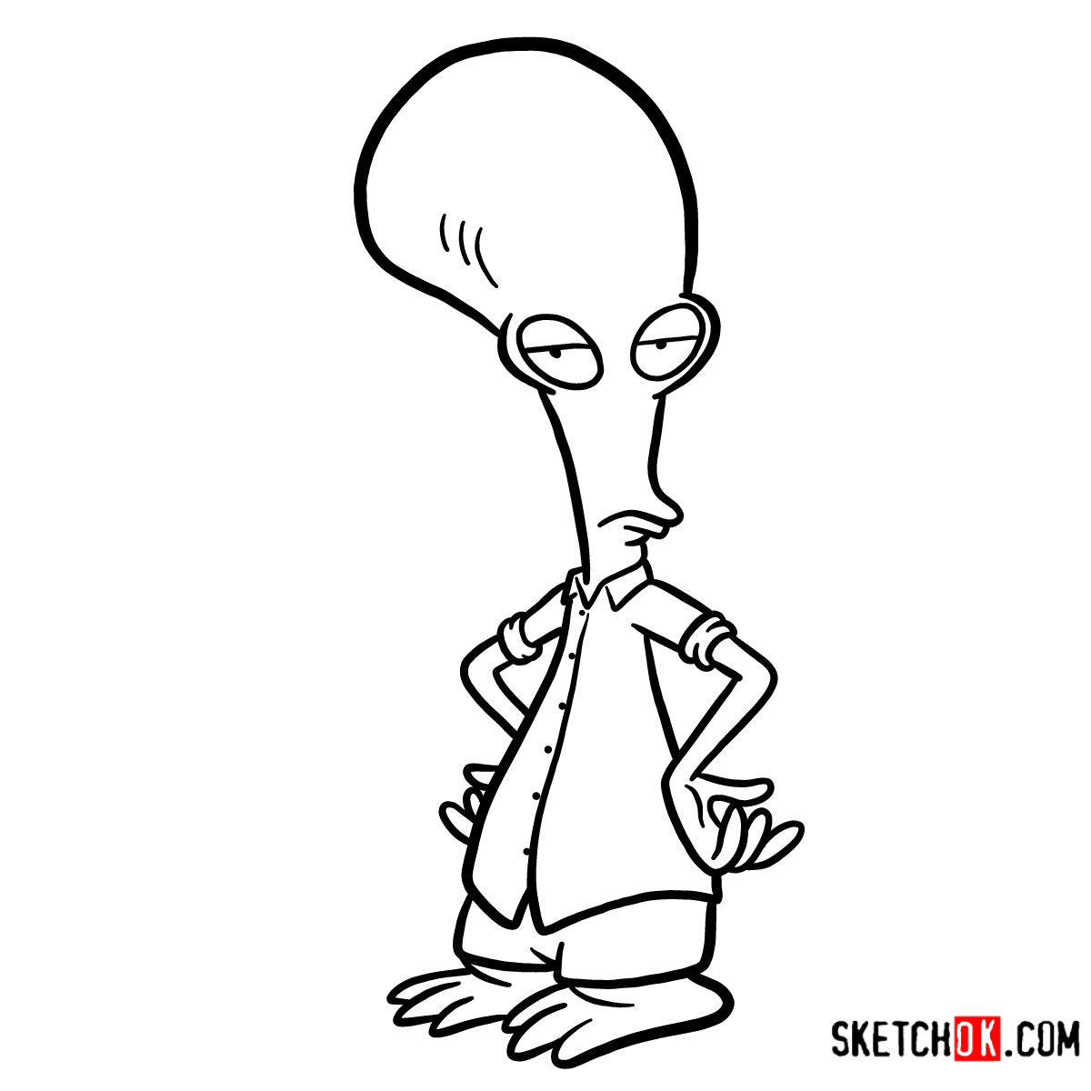 How to draw Roger | American Dad