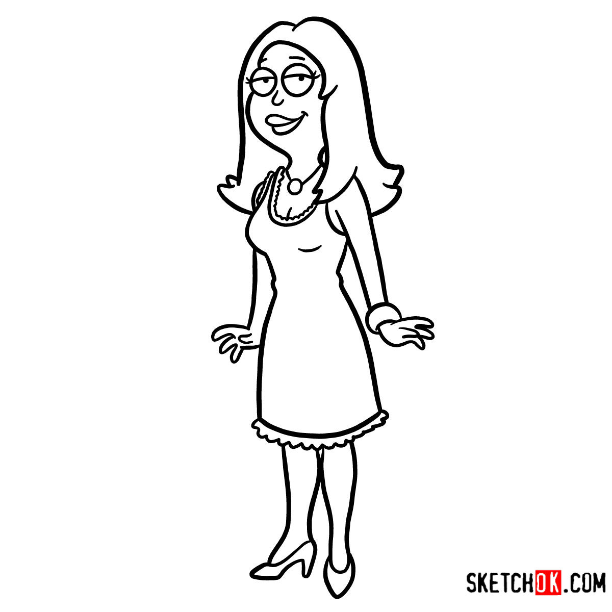 How to draw Francine Smith | American Dad