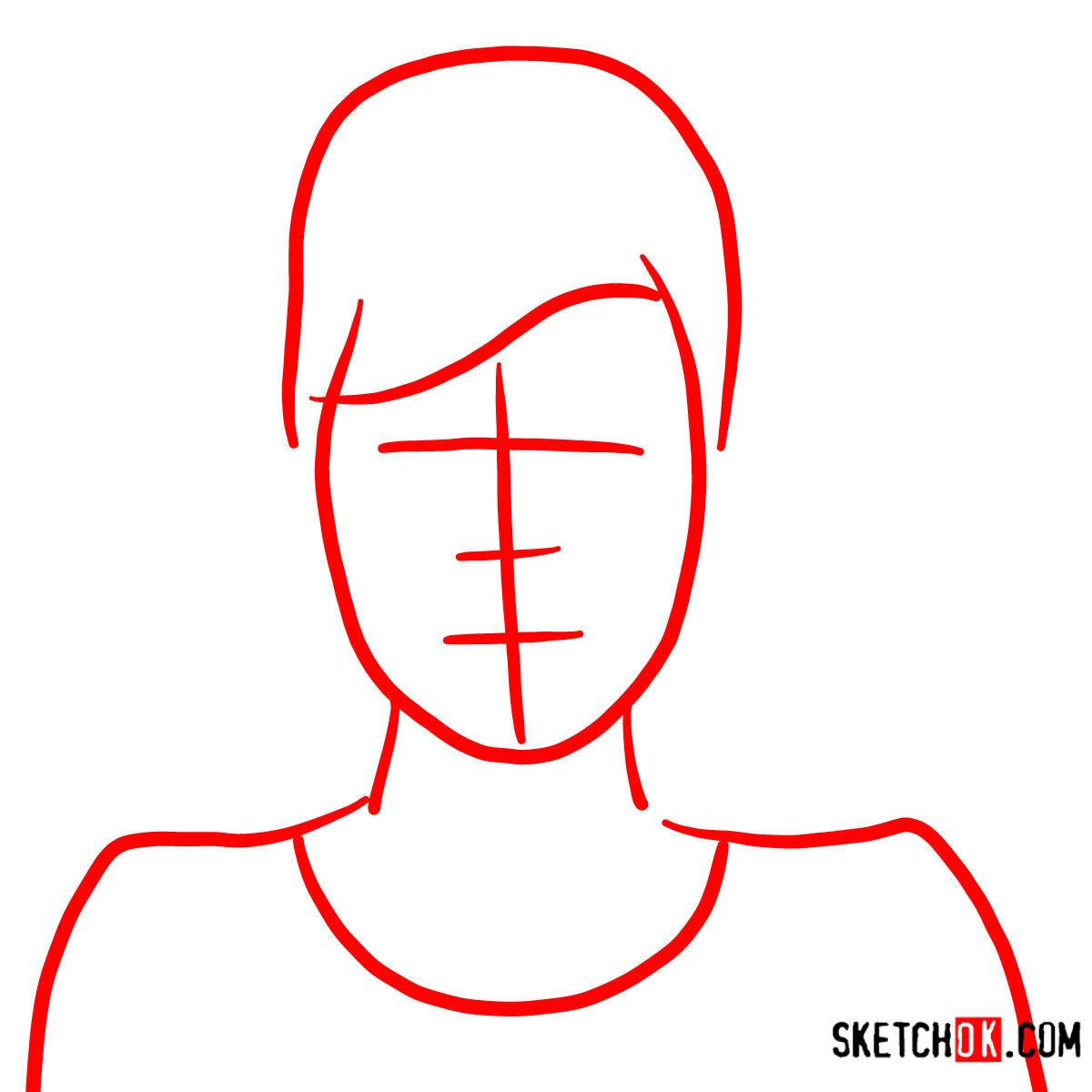 How to draw Cheryl Tunt | Archer - step 01