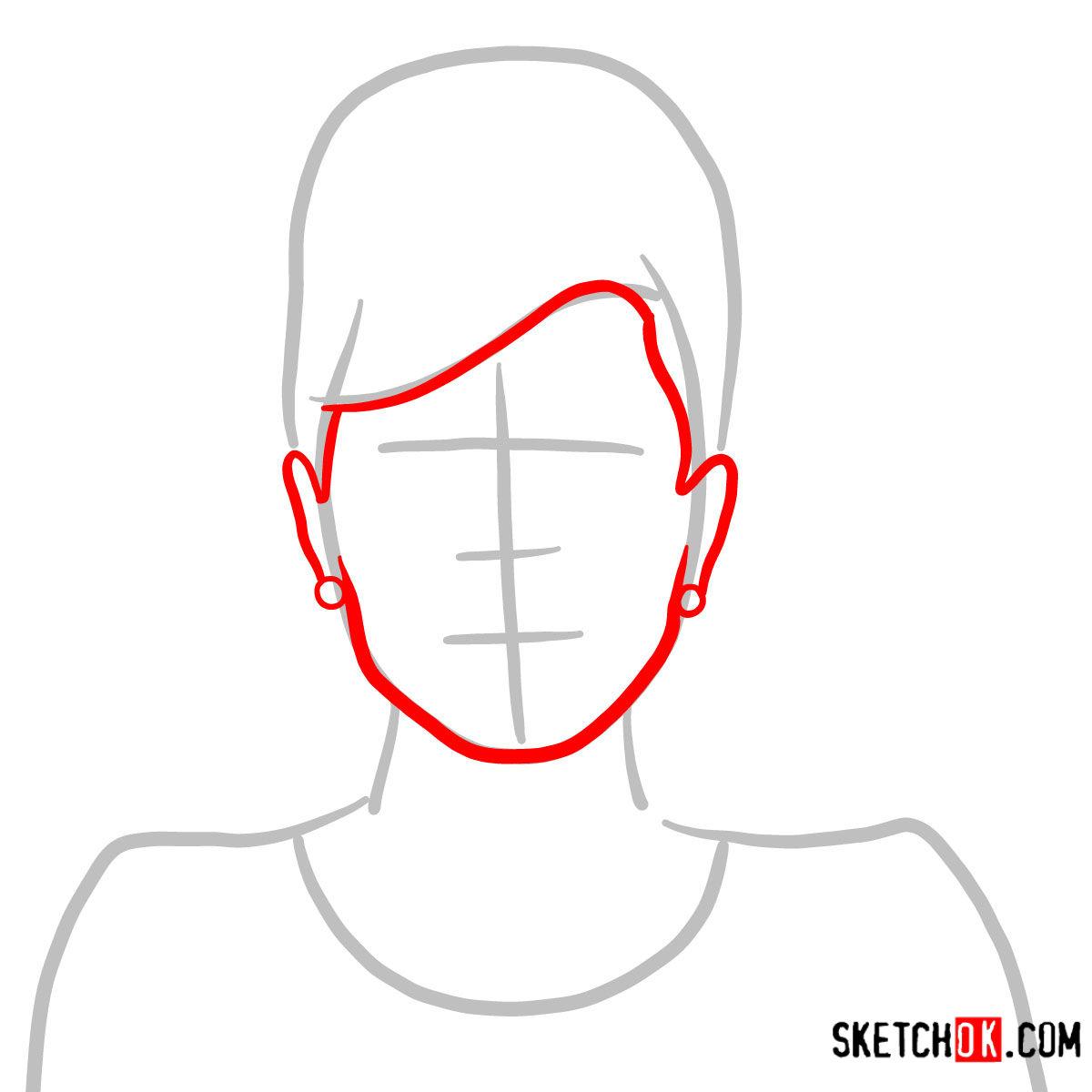 How to draw Cheryl Tunt | Archer - step 02
