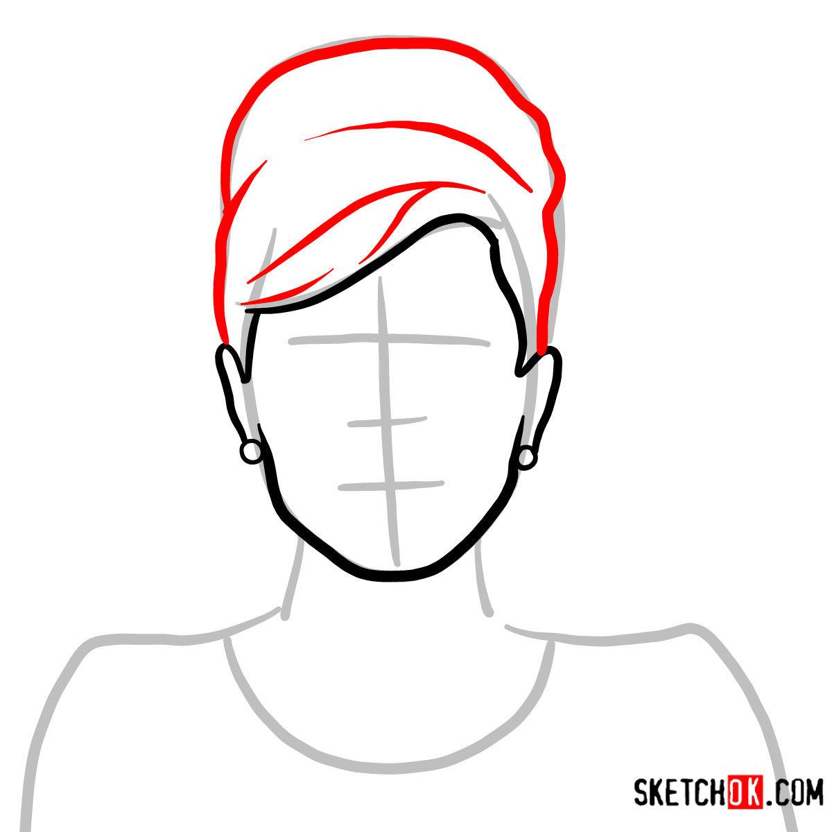 How to draw Cheryl Tunt | Archer - step 03