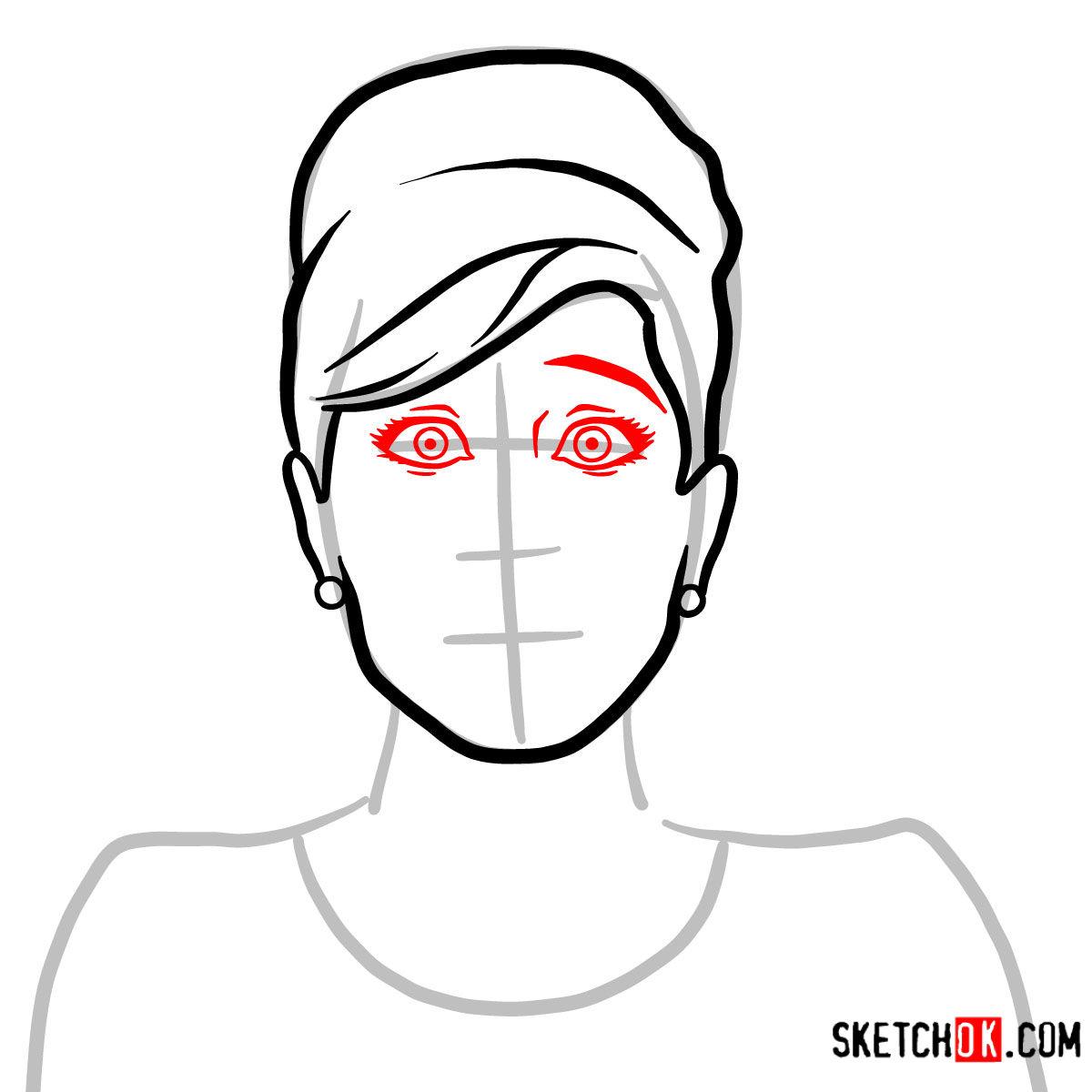 How to draw Cheryl Tunt | Archer - step 04