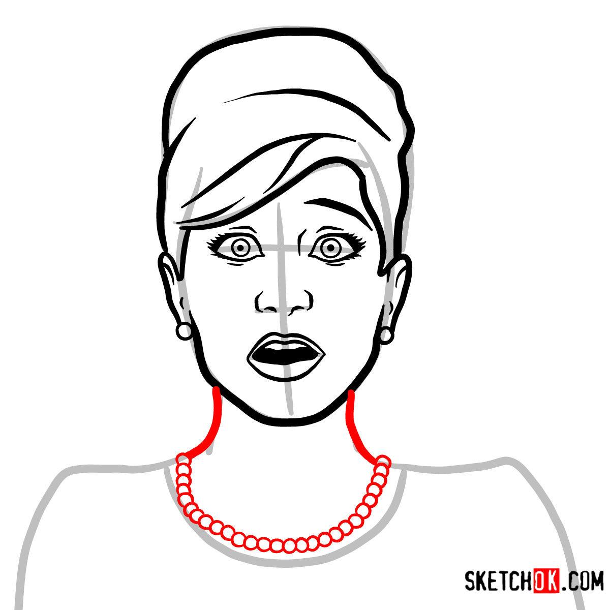 How to draw Cheryl Tunt | Archer -  step 06