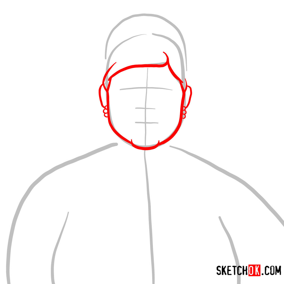How to draw Pam Poovey | Archer - step 02