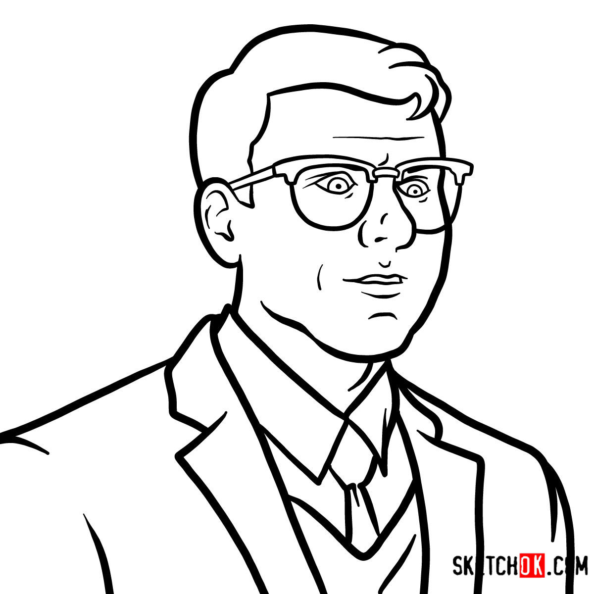 How to draw Cyril Figgis | Archer