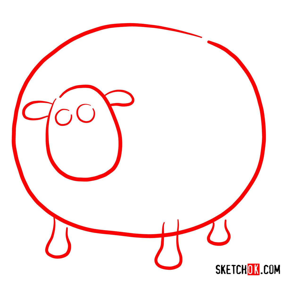 How to draw Shirley | Shaun the Sheep - step 01