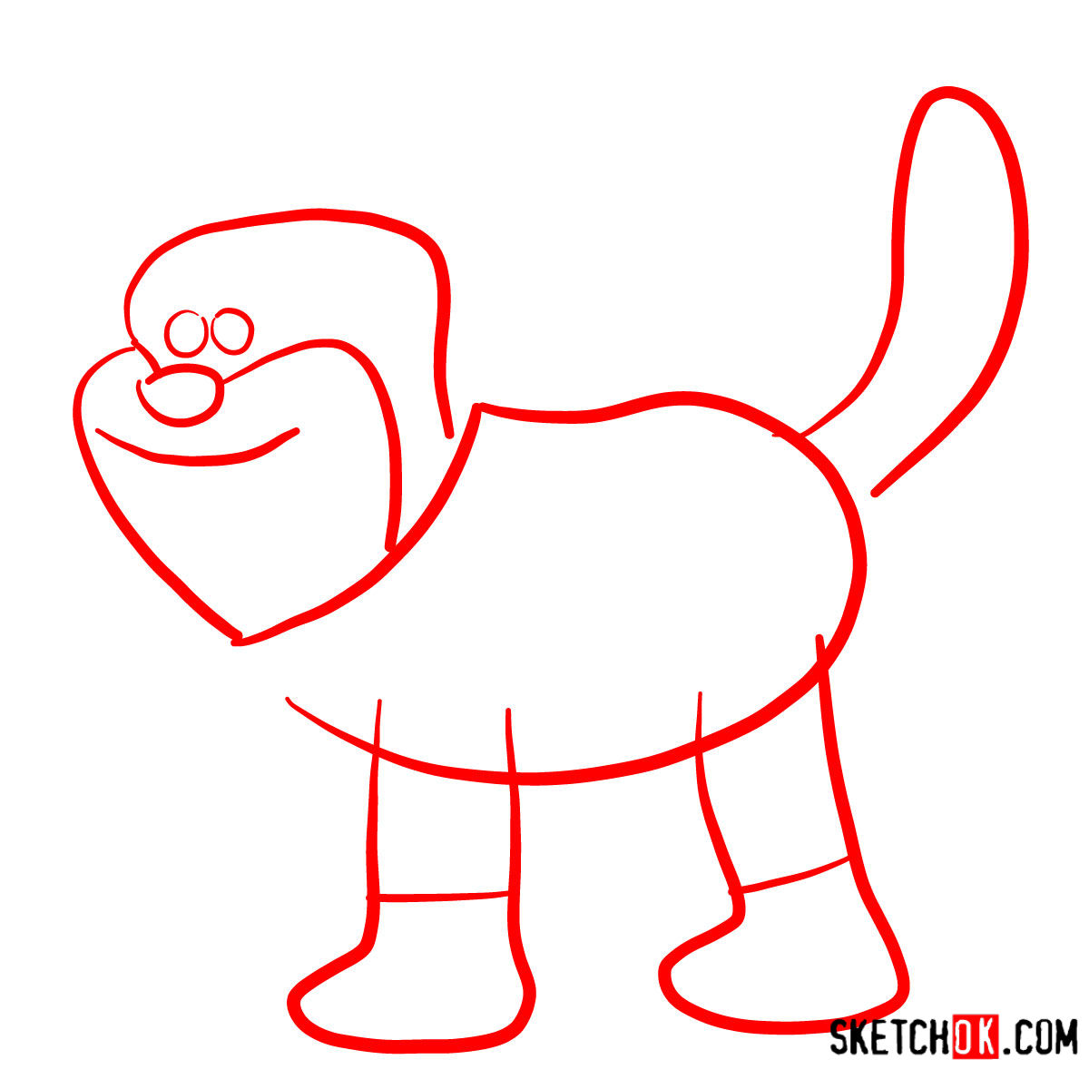 How to draw Pidsley   Shaun the Sheep - step 01