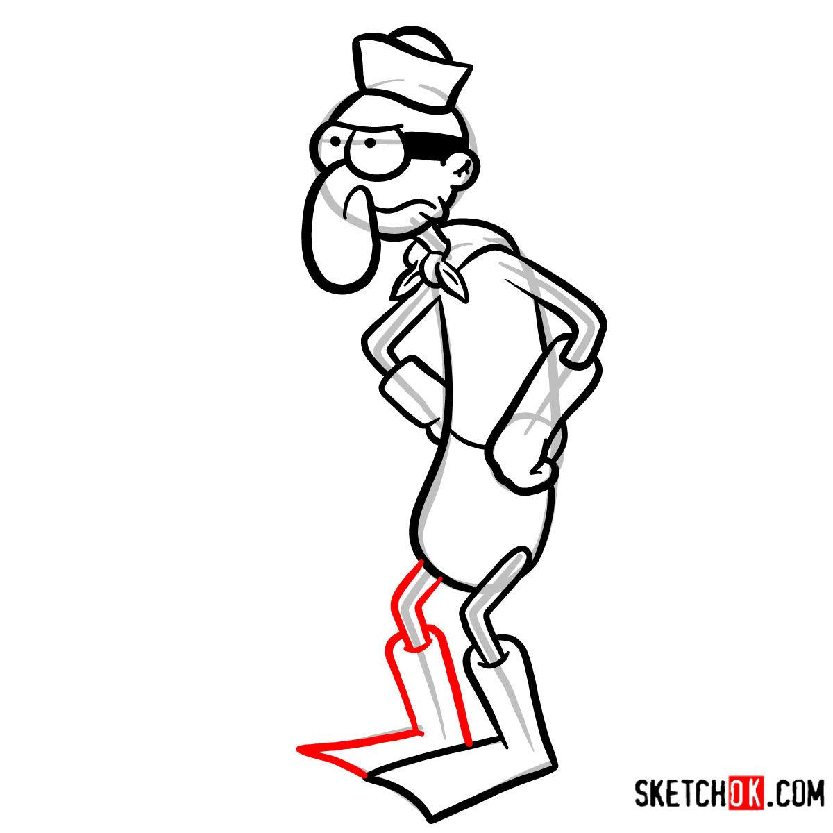 How to draw Barnacle Boy | SpongeBob - step 10