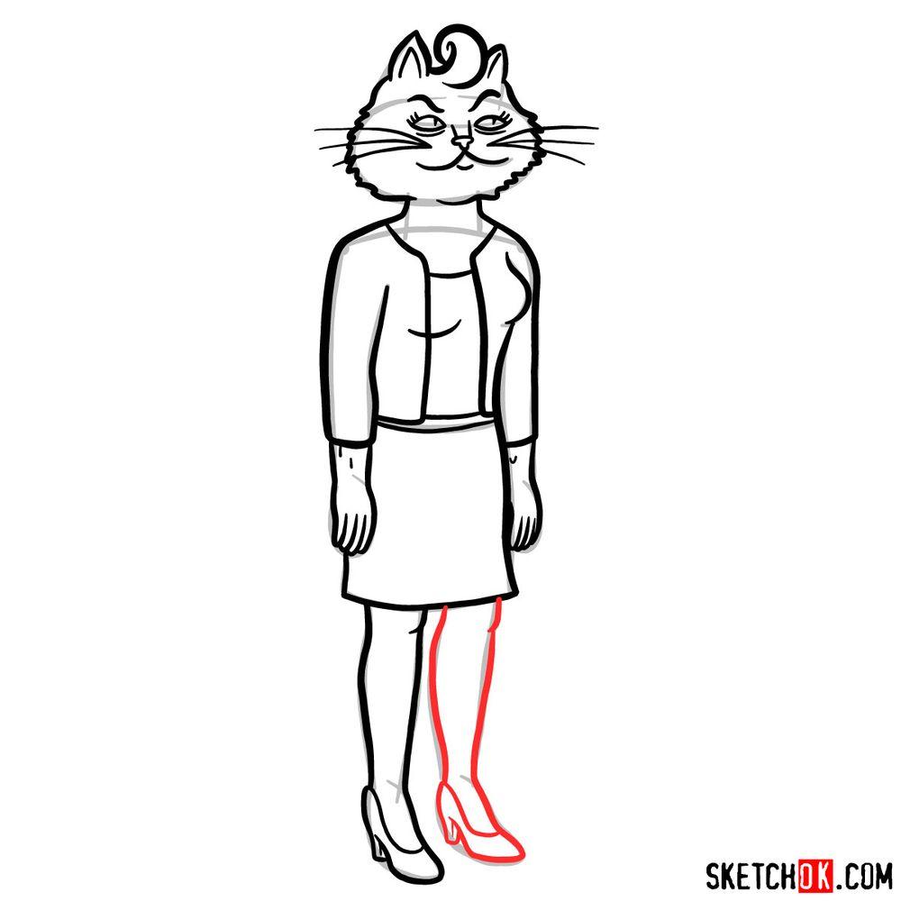 How to draw Princess Carolyn full growth | BoJack Horseman - step 11