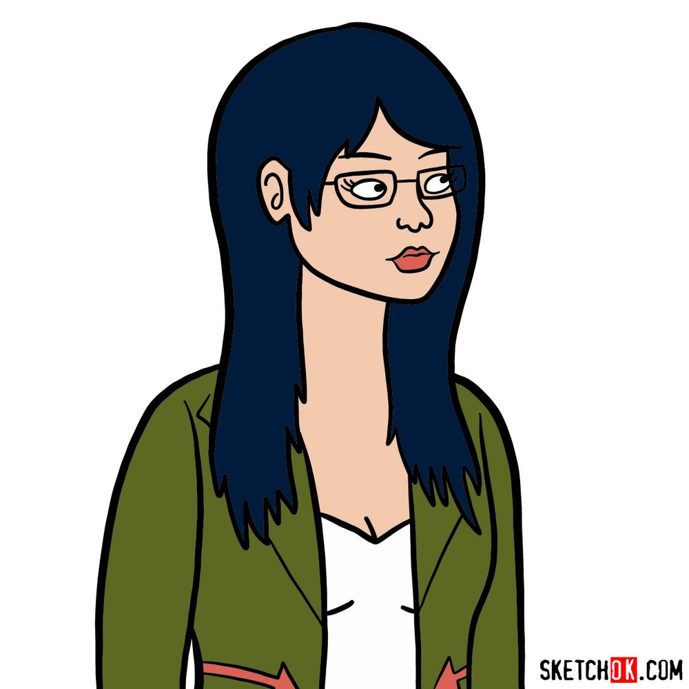 How to draw Diane Nguyen's portrait | BoJack Horseman