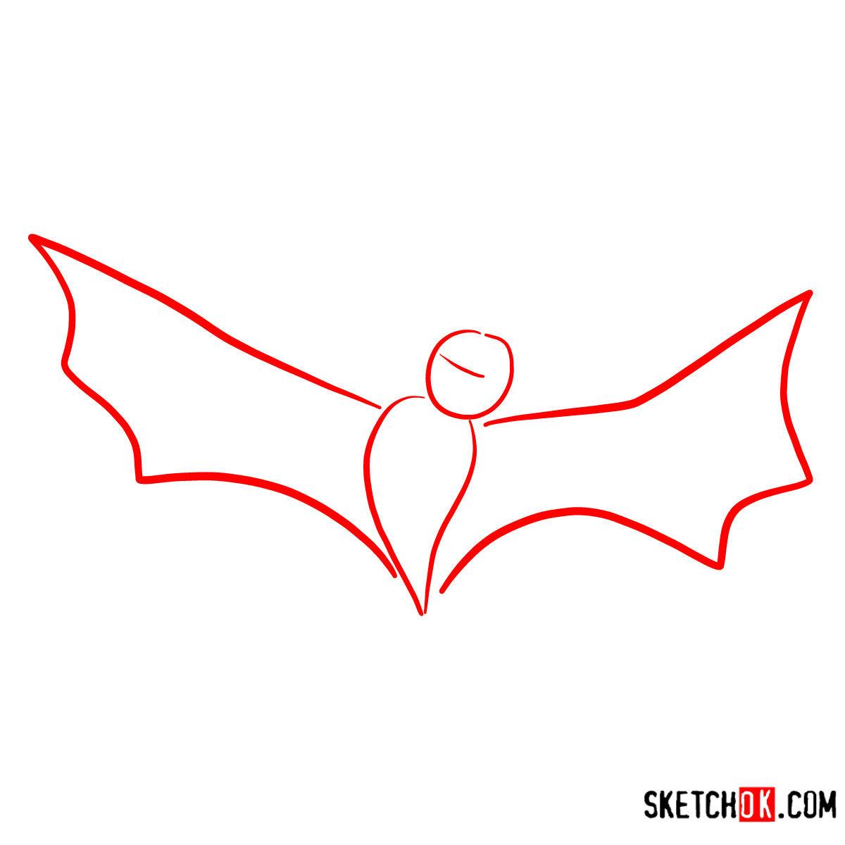 How to draw Bat Dracula | Hotel Transylvania - step 01