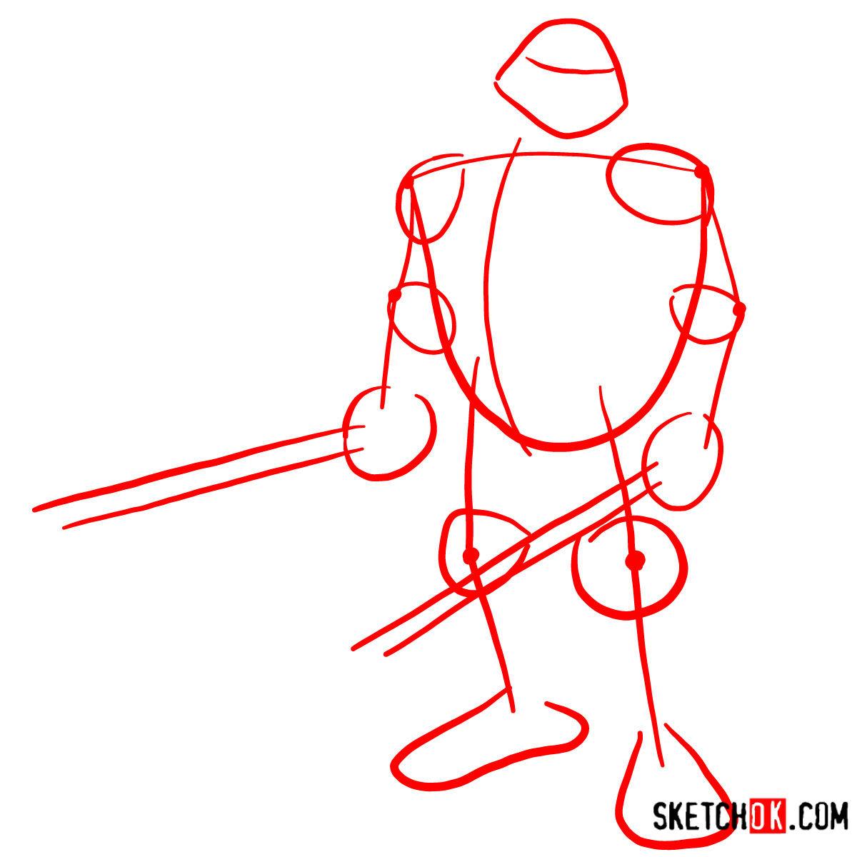 How to draw Leonardo with Ninjatos | TMNT - step 01