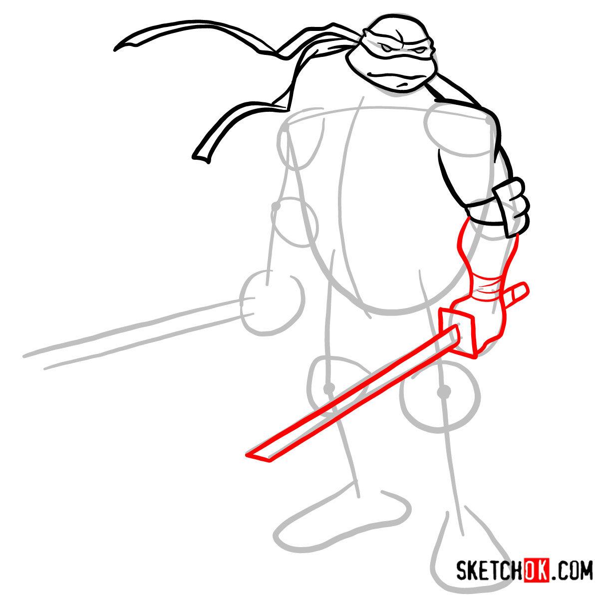 How to draw Leonardo with Ninjatos | TMNT - step 05