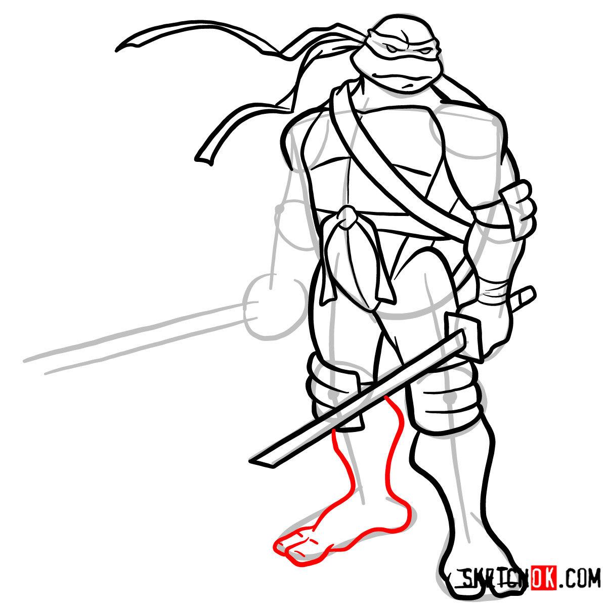 How to draw Leonardo with Ninjatos | TMNT - step 12