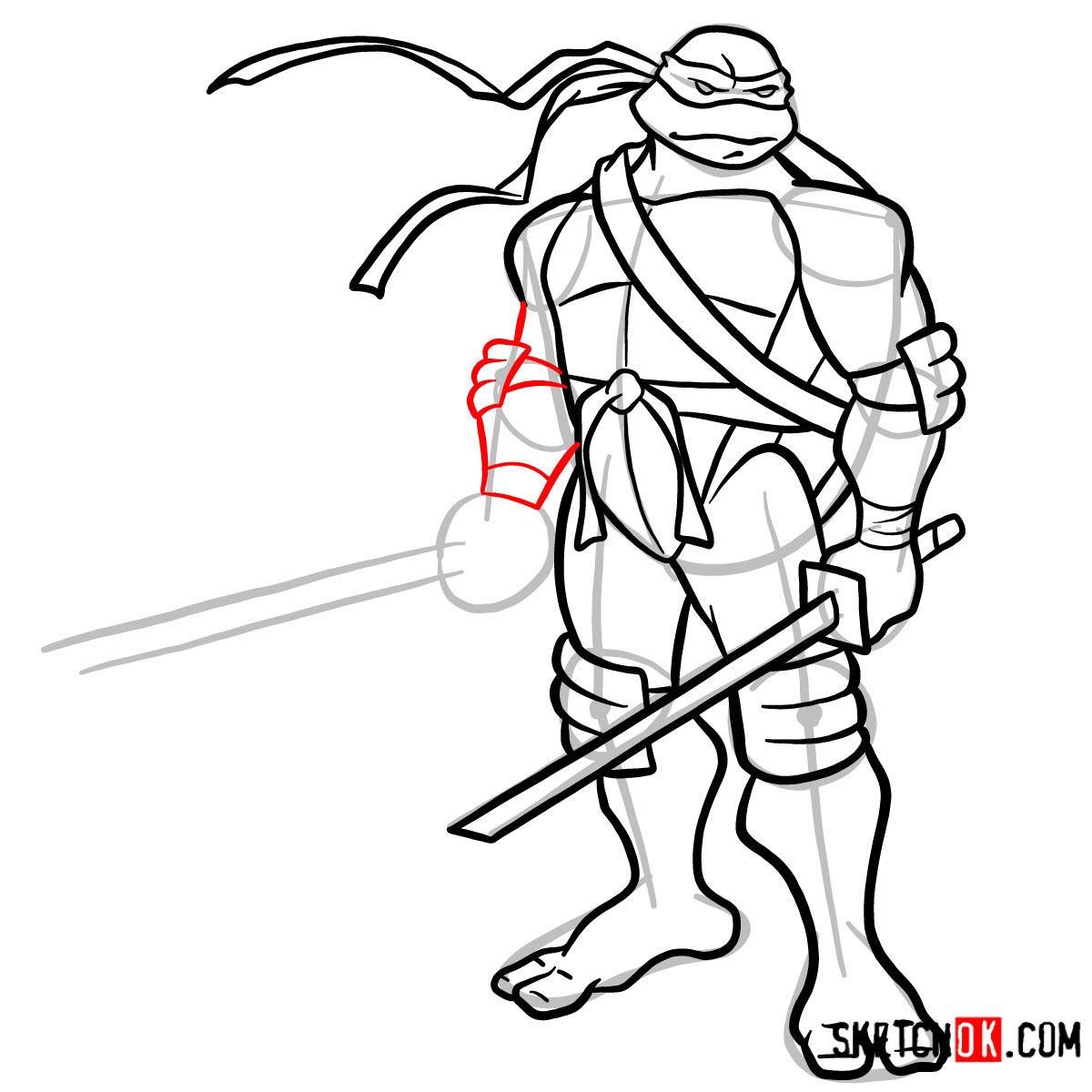 How to draw Leonardo with Ninjatos | TMNT - step 13