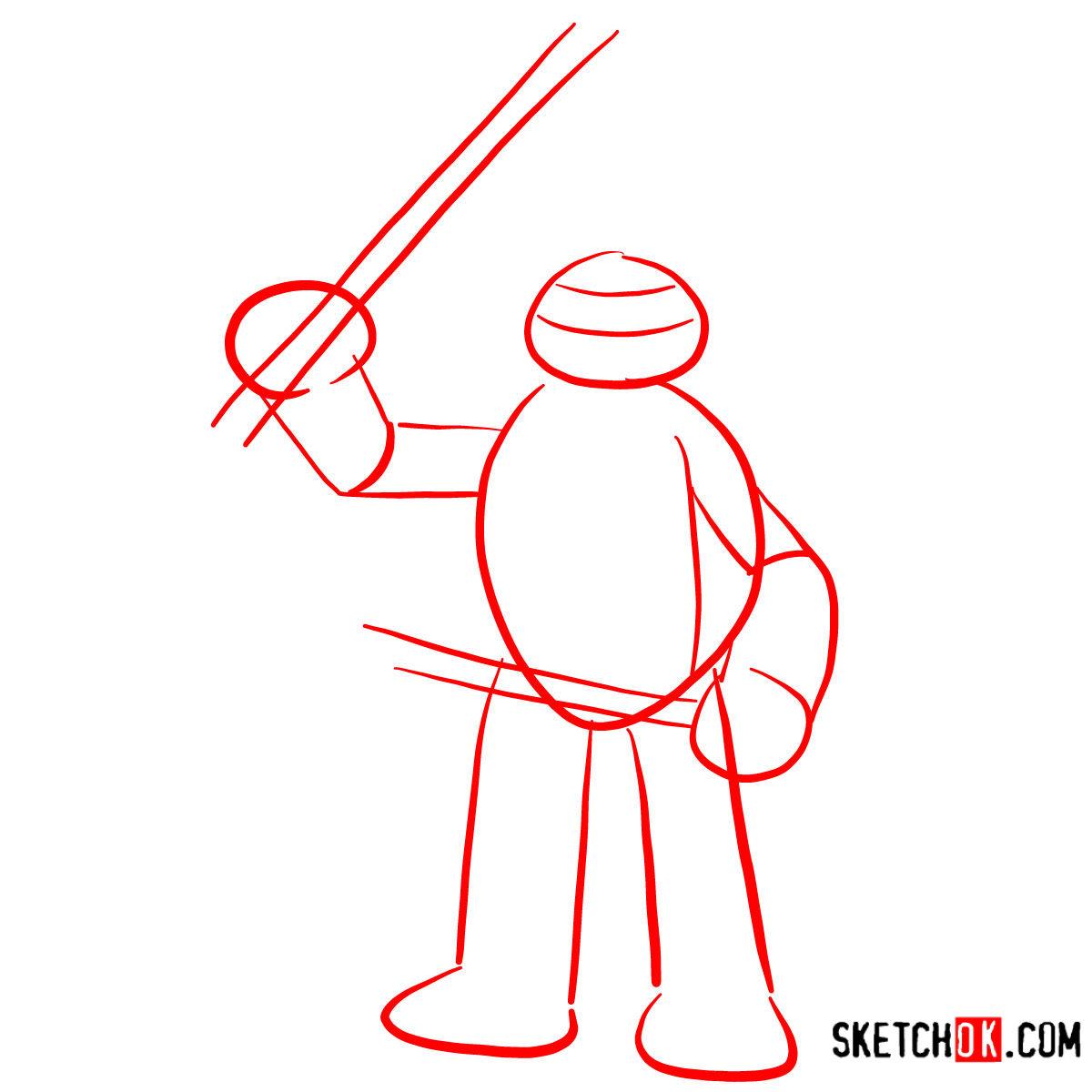 How to draw Leonardo | TMNT - step 01