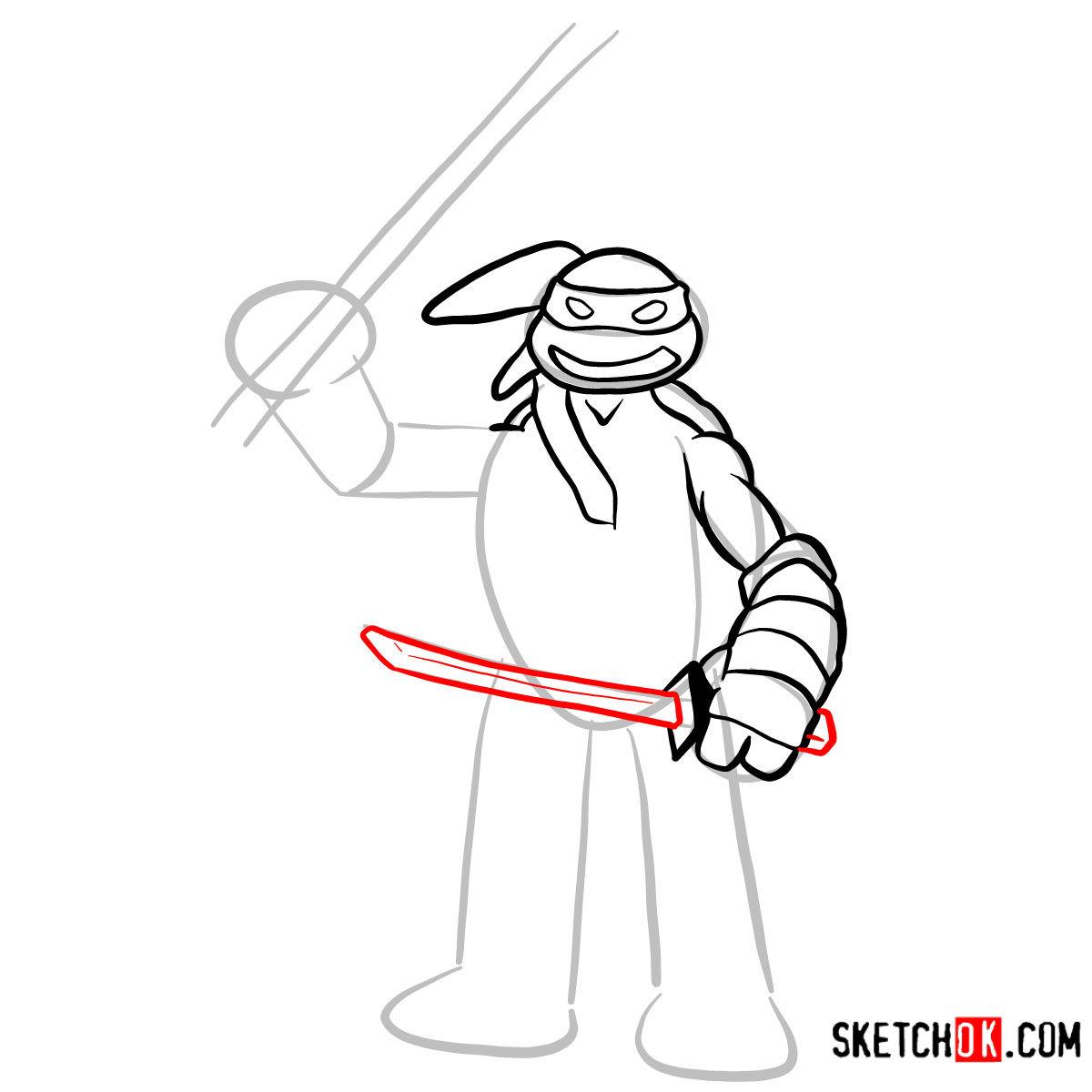 How to draw Leonardo | TMNT -  step 06