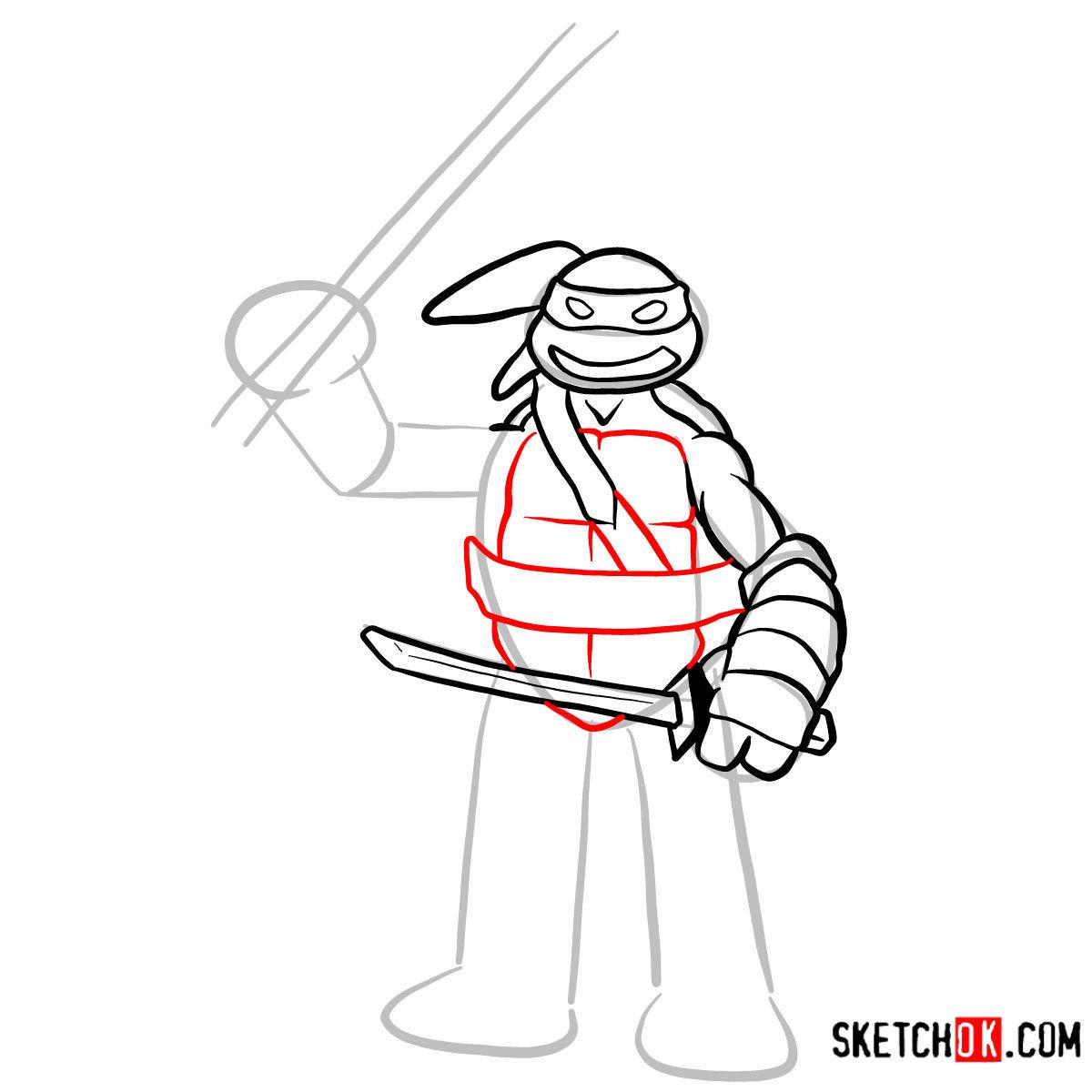 How to draw Leonardo | TMNT - step 07