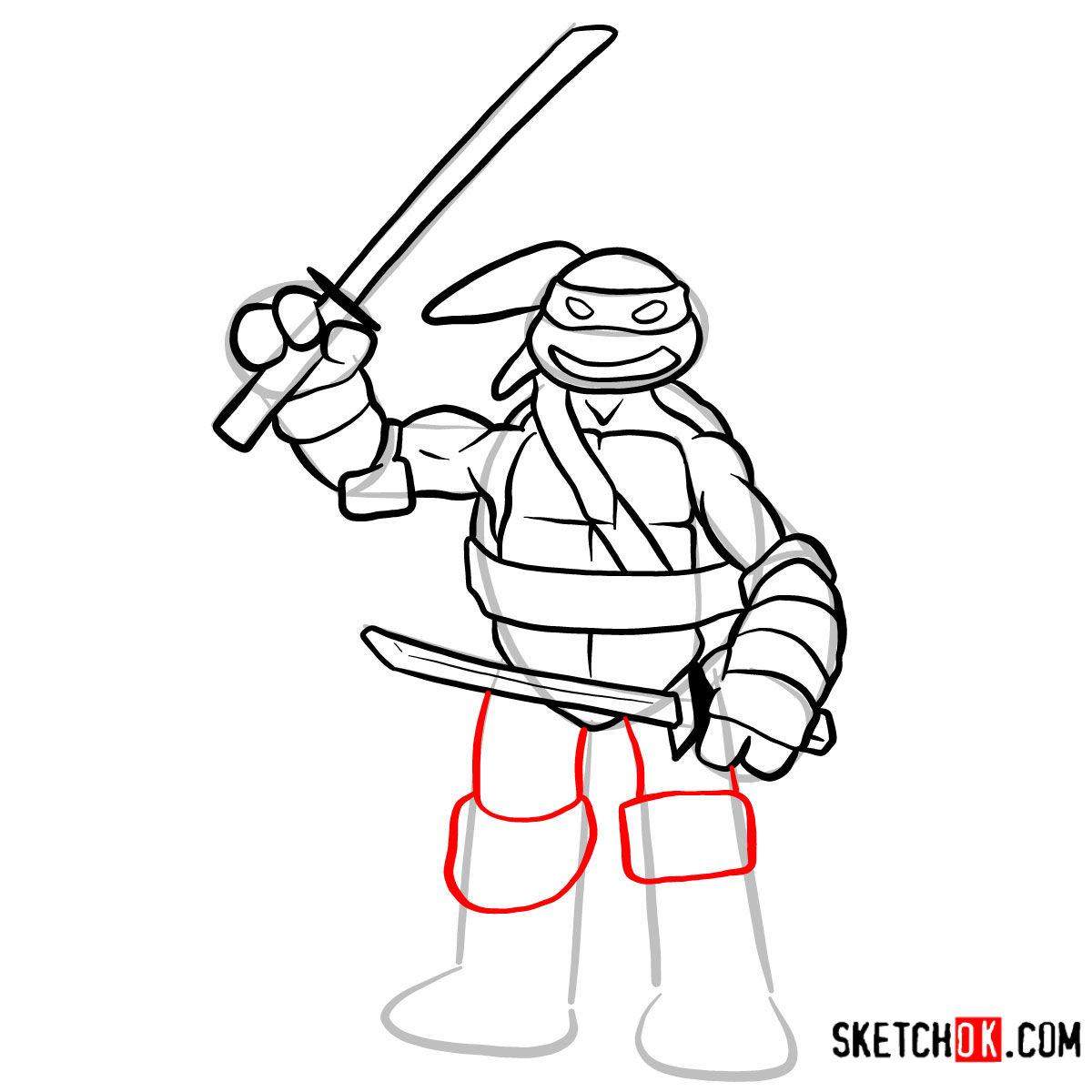 How to draw Leonardo | TMNT - step 10