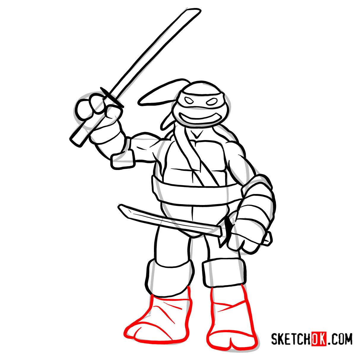 How to draw Leonardo | TMNT - step 11