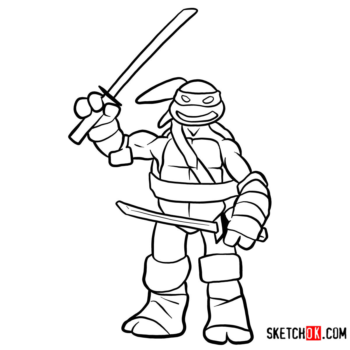 How to draw Leonardo | TMNT
