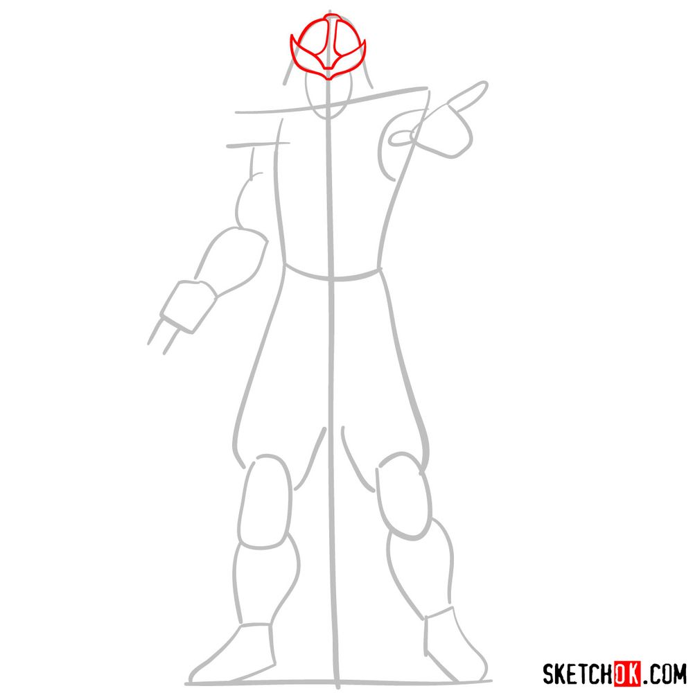 How to draw Shredder - step 03