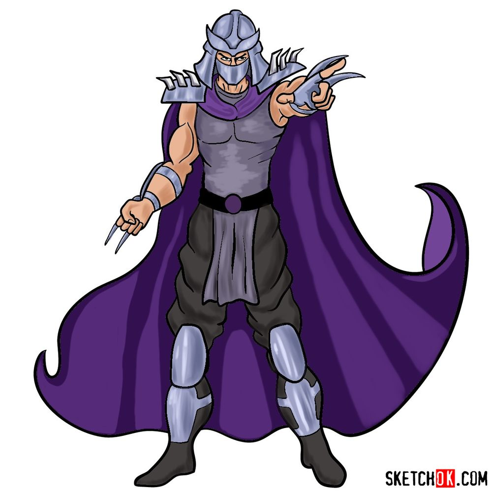 How to draw Shredder