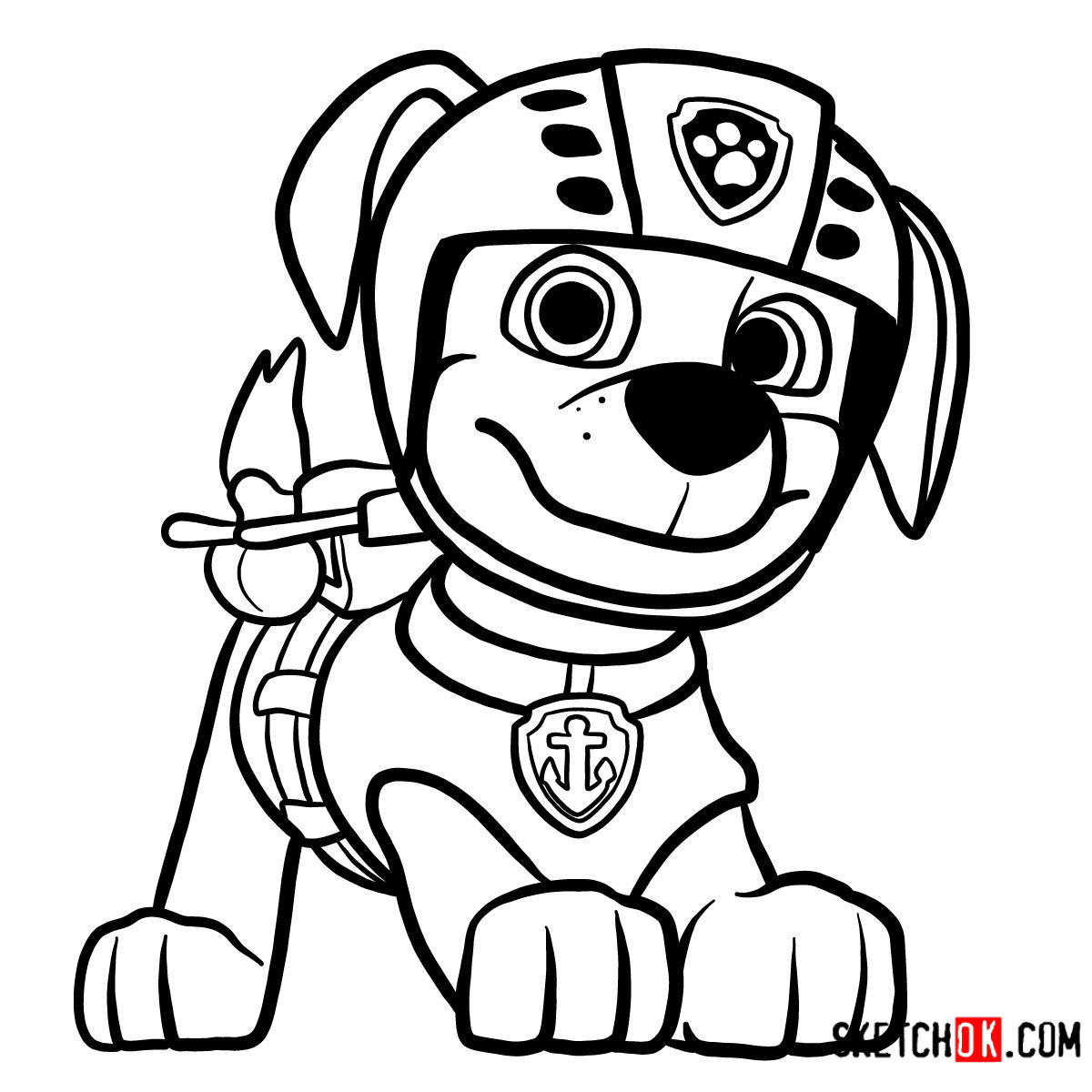 How to draw Zuma | Paw Patrol
