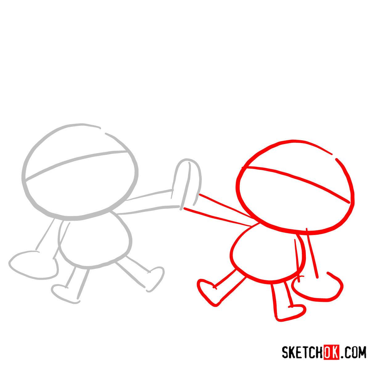 How to draw Más y Menos | Teen Titans - step 02