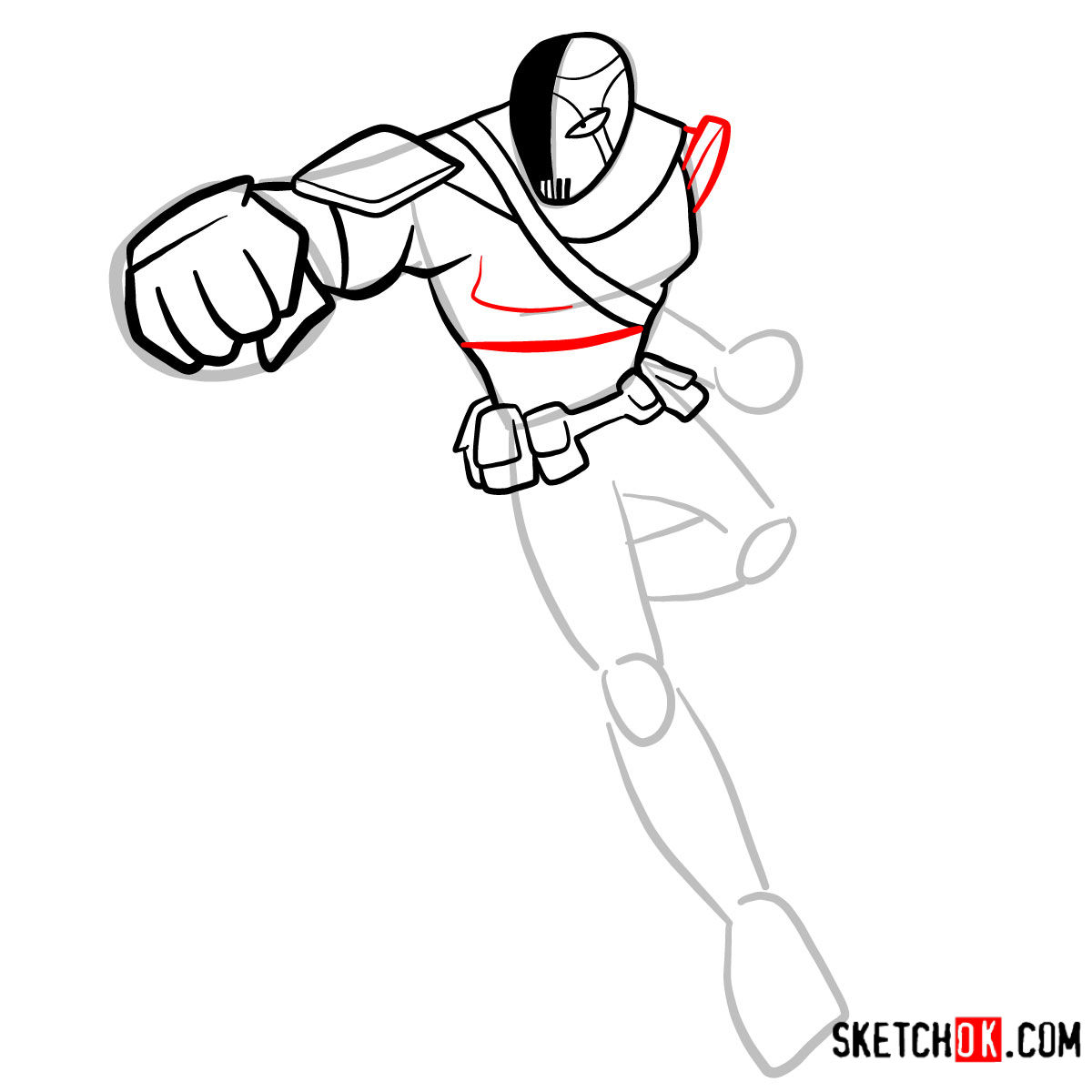 How to draw Slade | Teen Titans - step 07