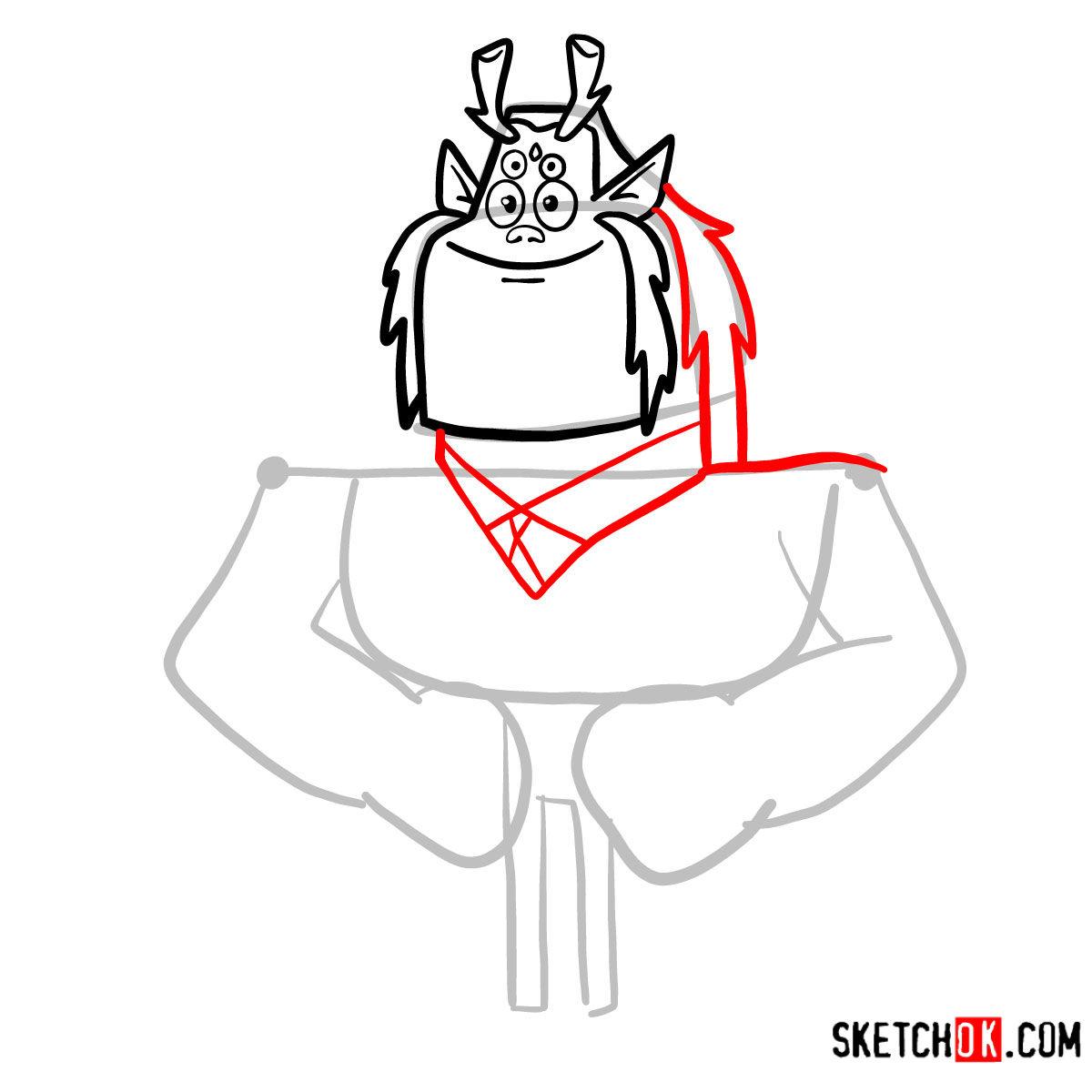 How to draw Trigon | Teen Titans - step 05