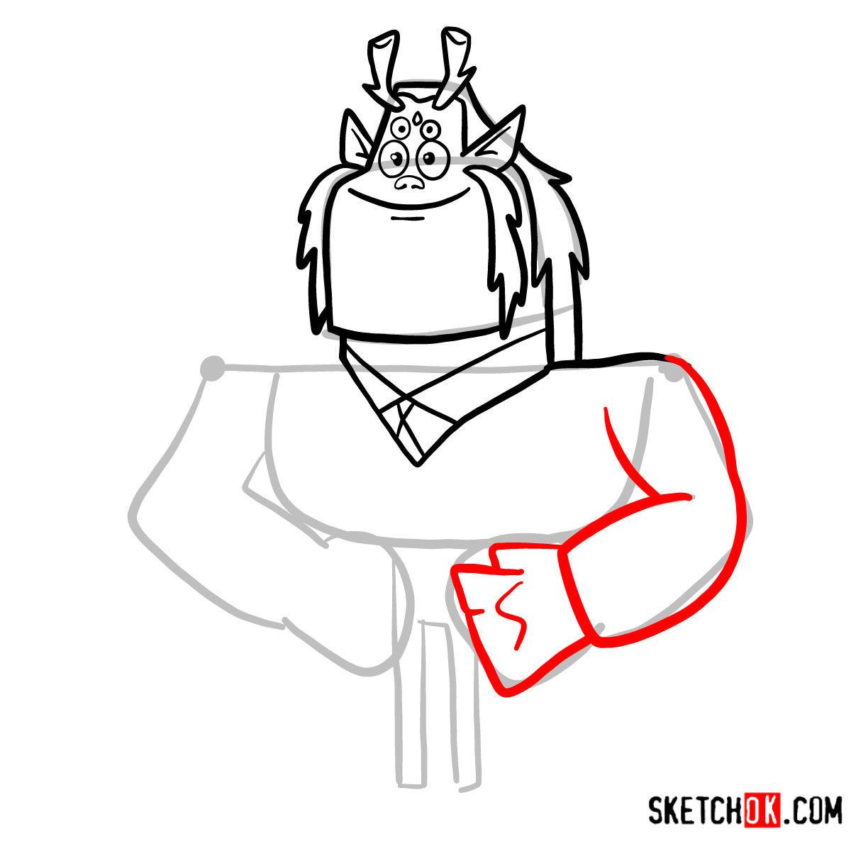 How to draw Trigon | Teen Titans -  step 06