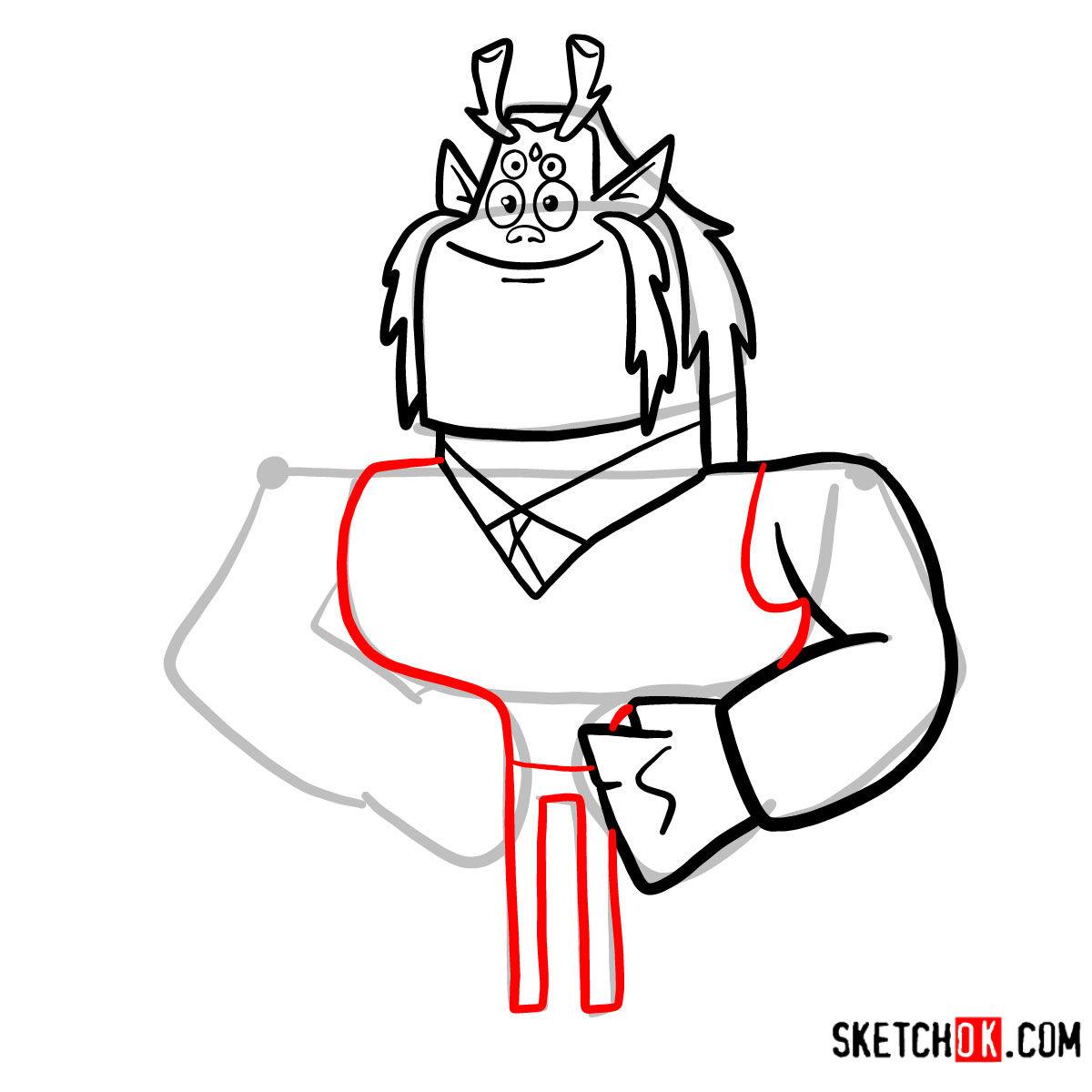 How to draw Trigon | Teen Titans - step 07