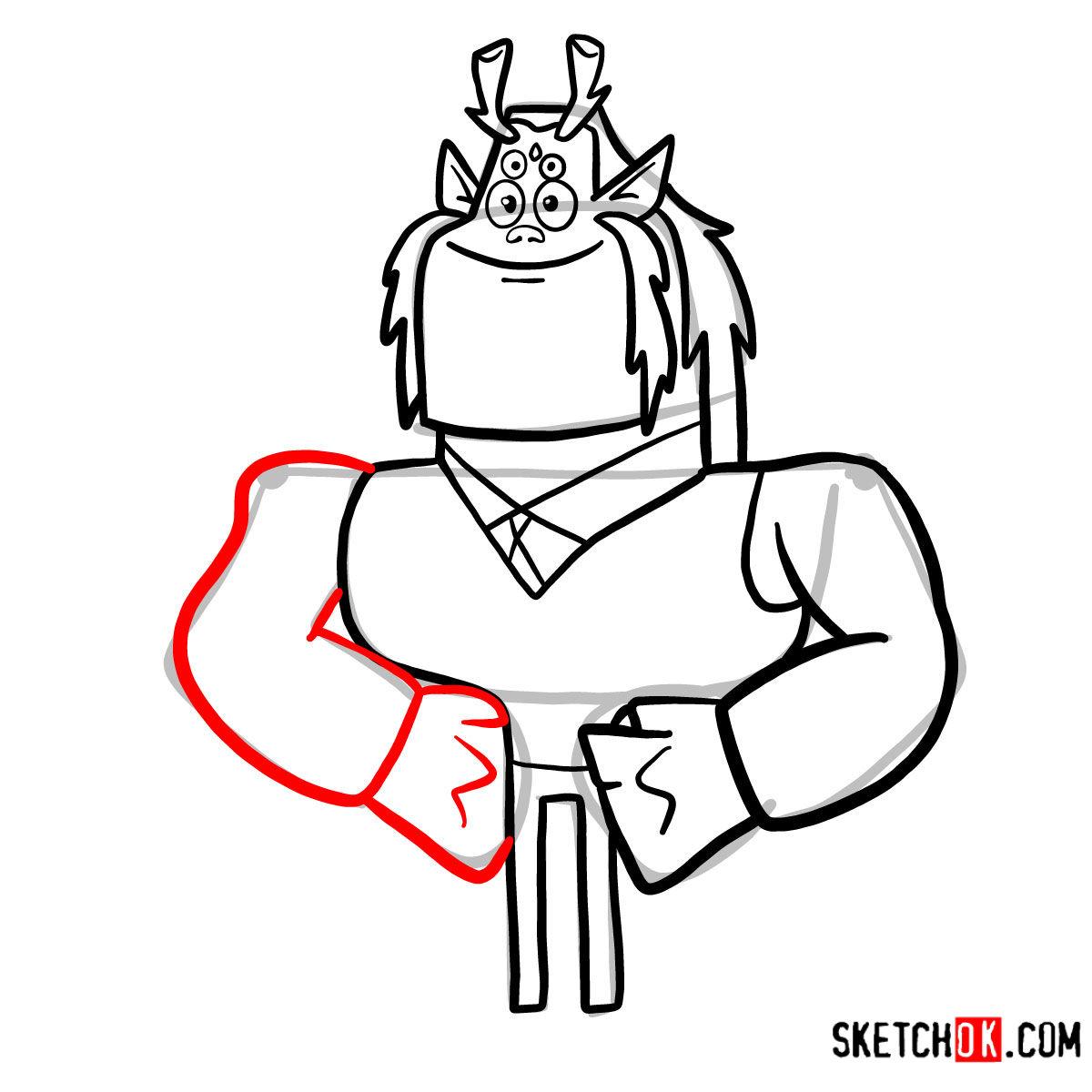 How to draw Trigon | Teen Titans - step 08