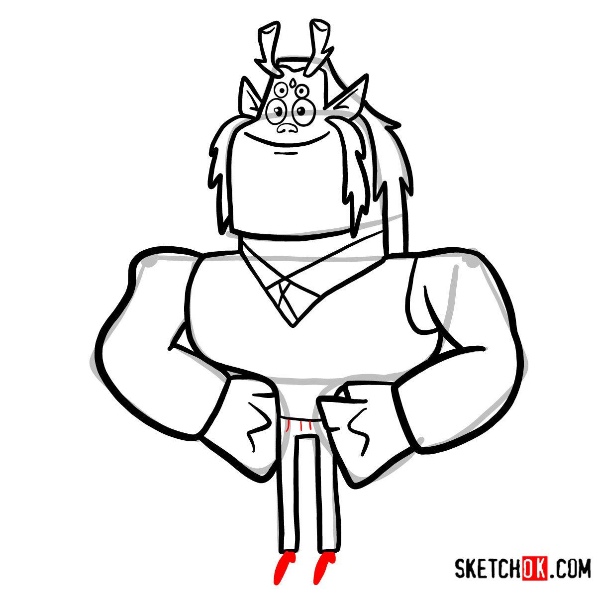 How to draw Trigon | Teen Titans - step 09