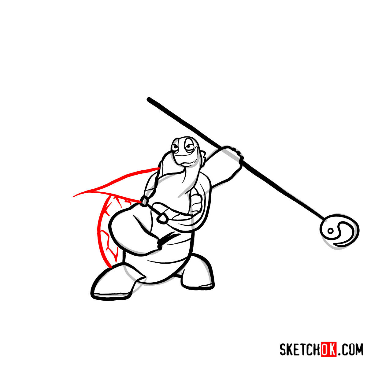 How to draw Master Oogway | Kung Fu Panda - step 10