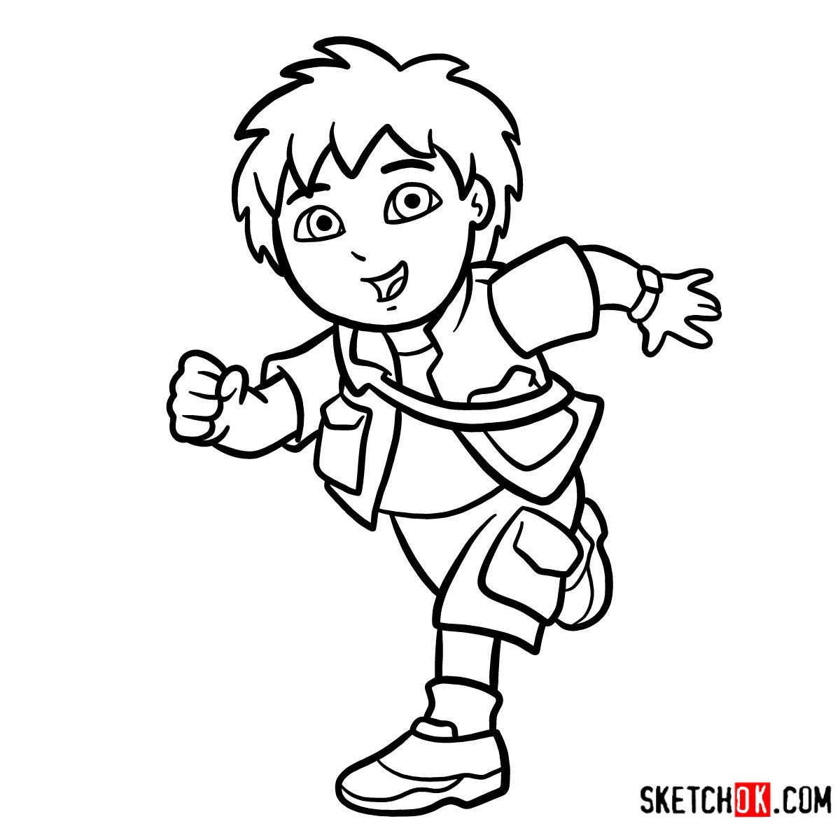How to draw Diego | Dora the Explorer - coloring