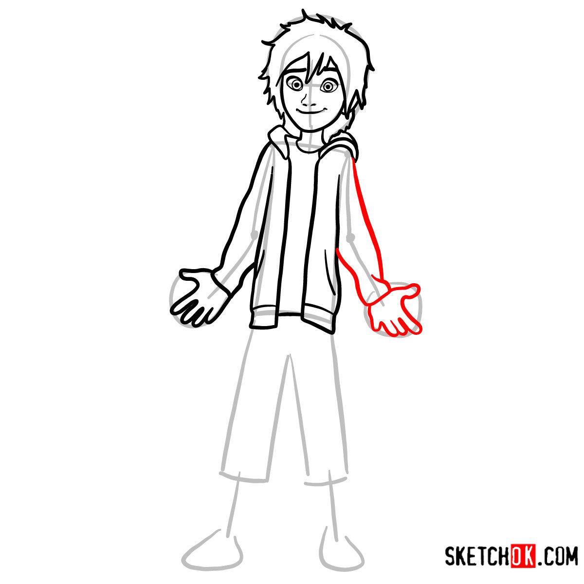 How to draw Hiro Hamada | Big Hero 6 - step 07