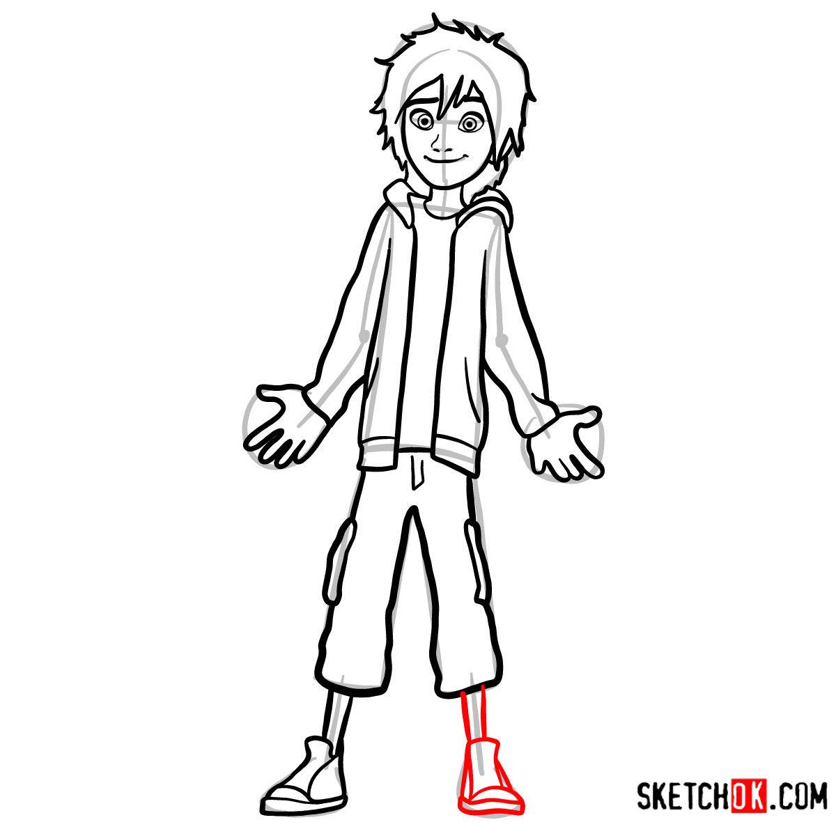 How to draw Hiro Hamada | Big Hero 6 - step 10