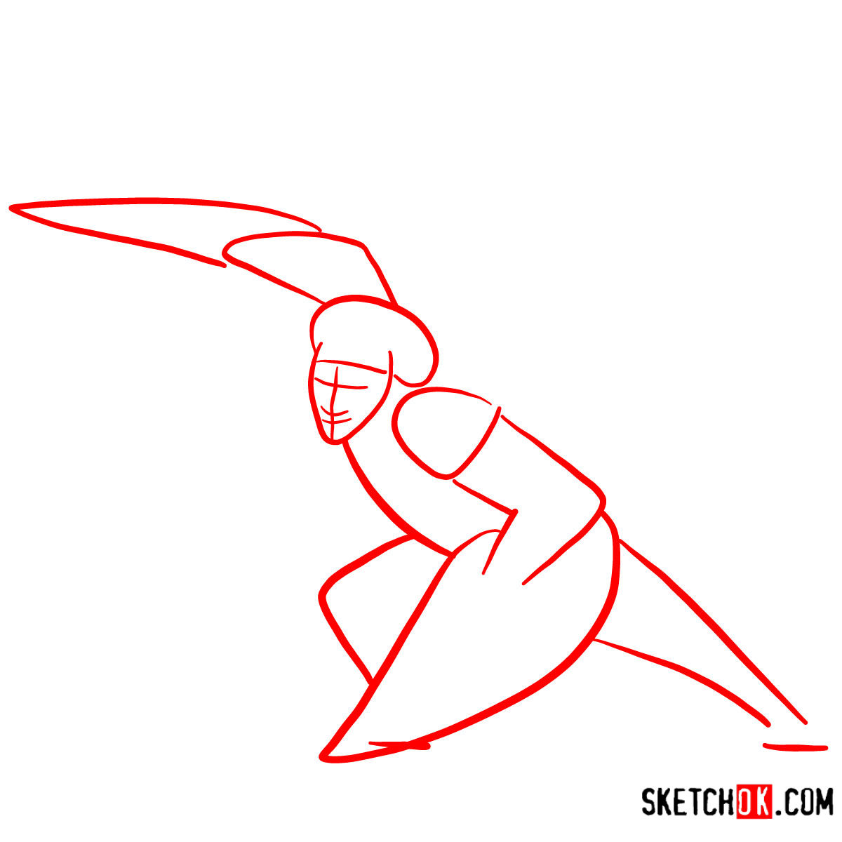 How to draw Wasabi as a superhero | Big Hero 6 - step 01